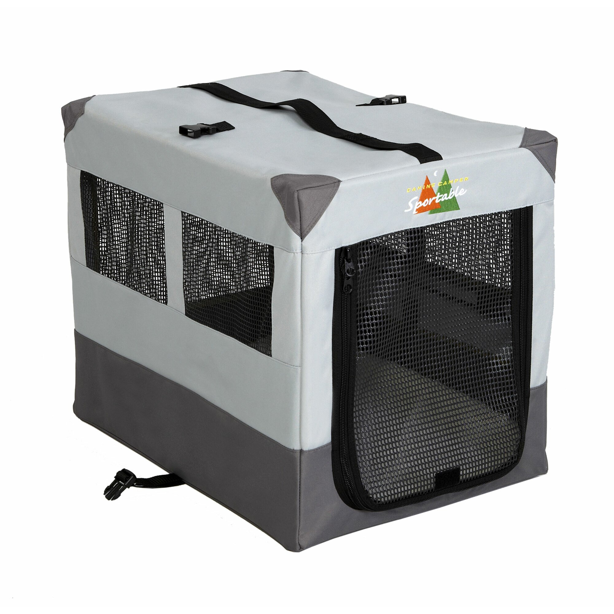 Midwest homes for pets canine camper sportable tent pet for Table pliante walmart