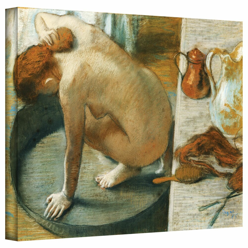 Artwall The Tub By Edgar Degas Painting Print On Wrapped