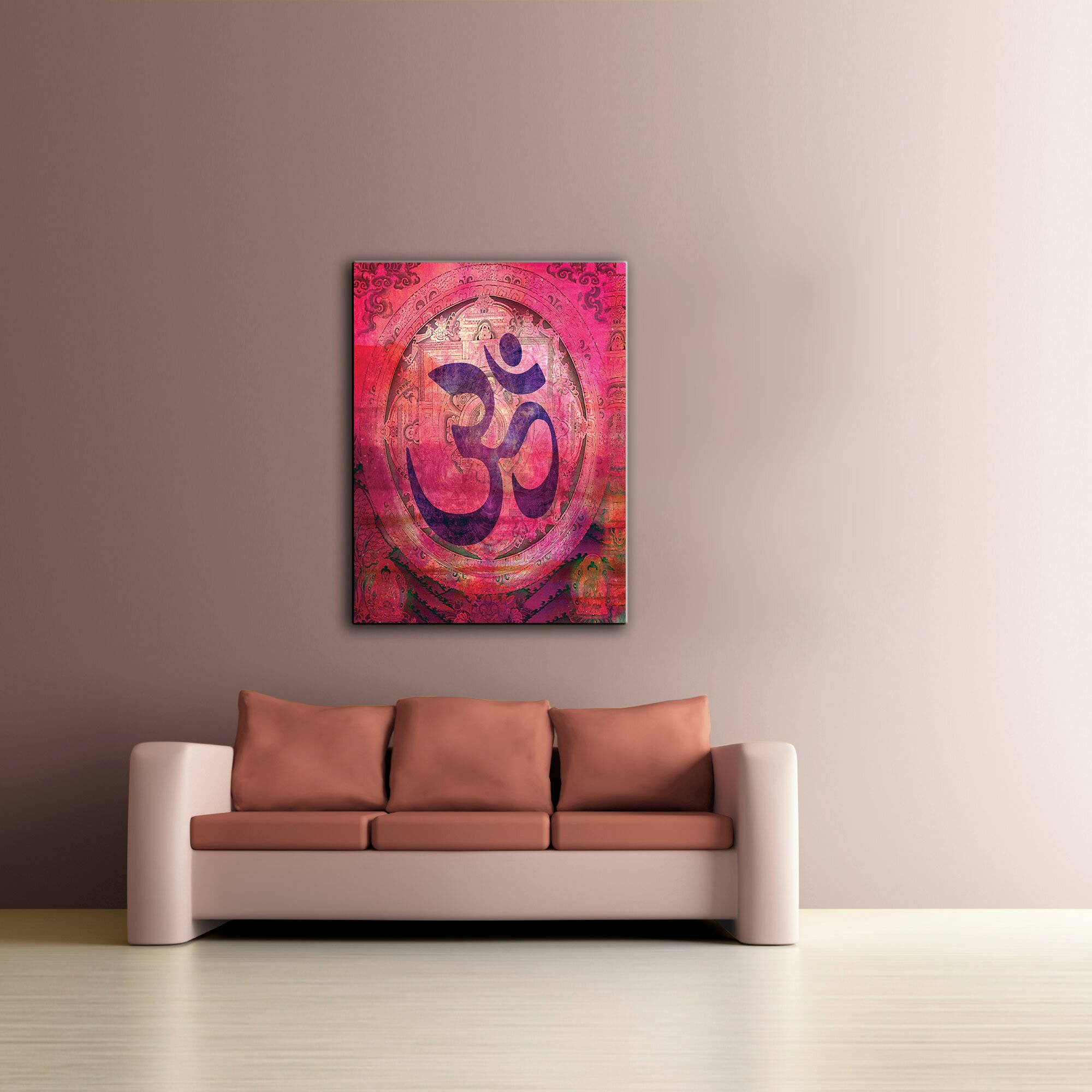 Wall Art Stickers Next Day Delivery : Artwall artapeelz om mandala by elena ray graphic art