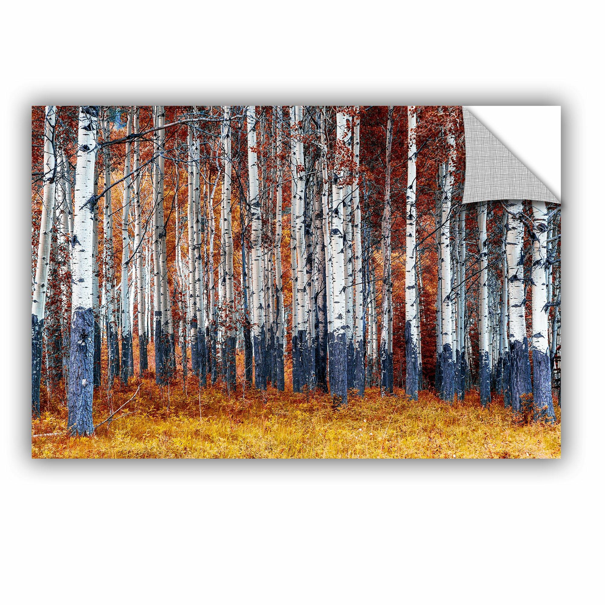 Artwall autumn forest wall mural wayfair for Autumn wall mural