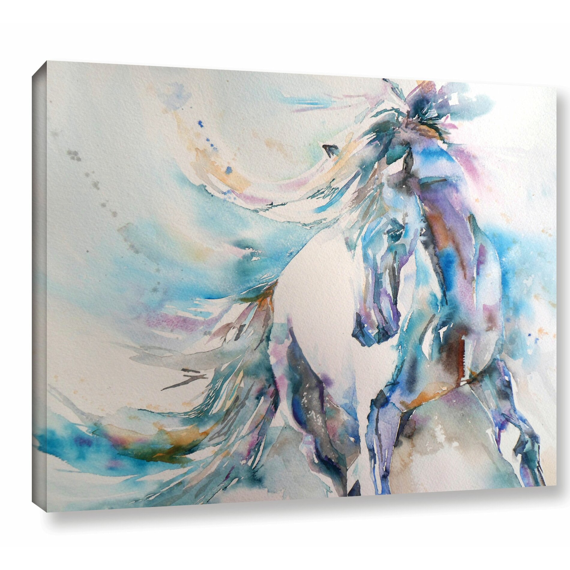 Latitude Run Horse 9 Painting Print on Wrapped Canvas ...