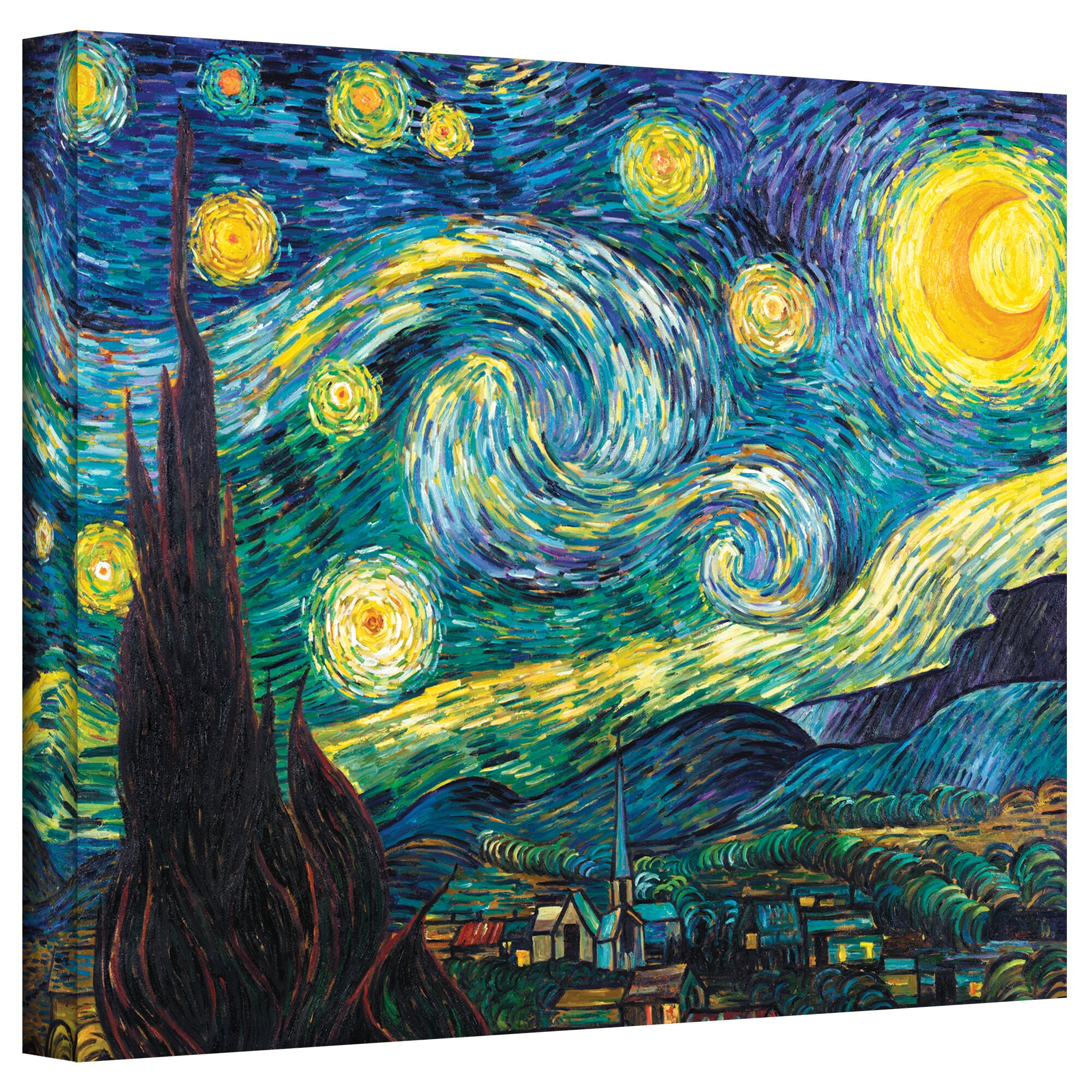 Alcott Hill Starry Night By Vincent Van Gogh Painting
