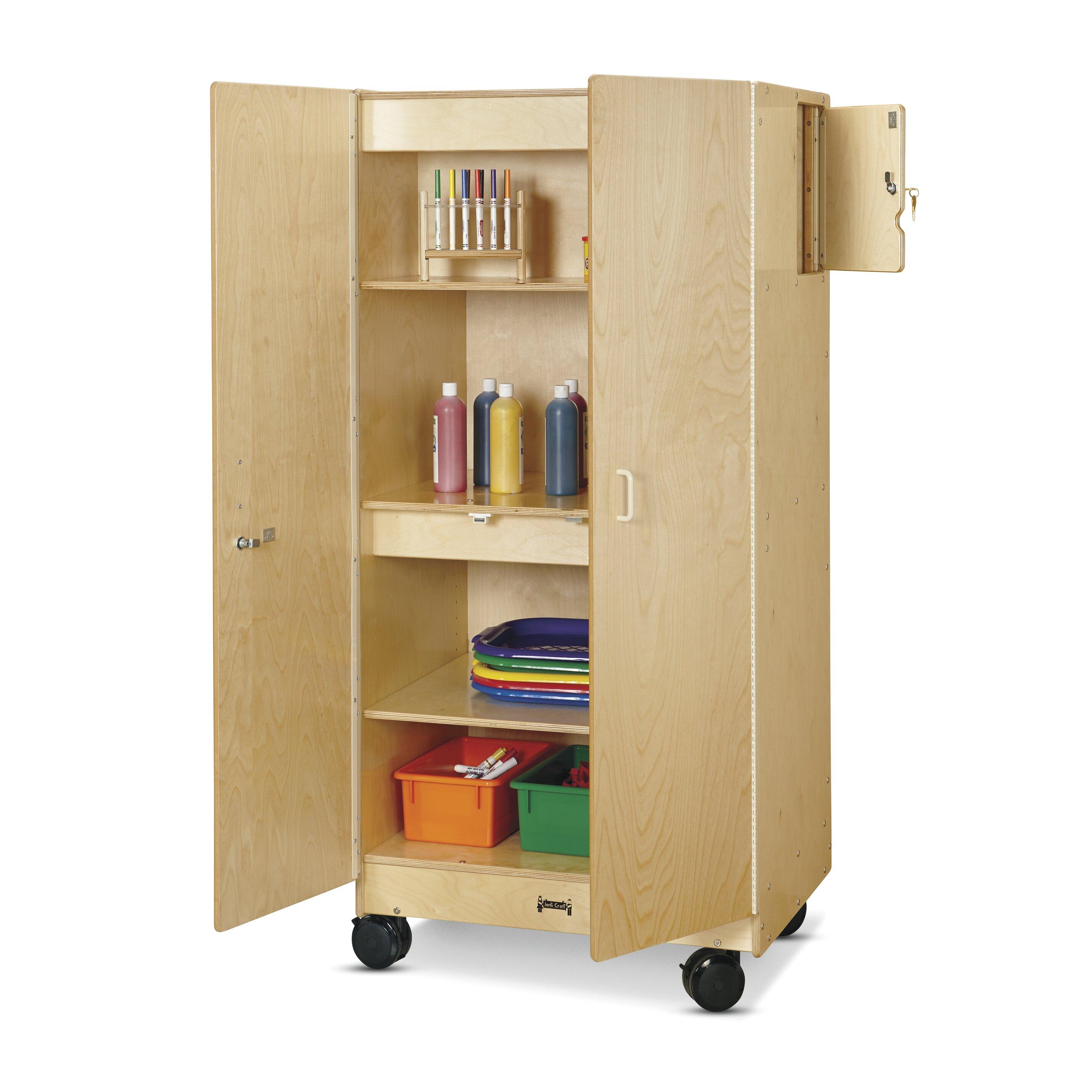 Kitchen Craft Cabinet Sizes: Jonti-Craft Hideaway Mobile Classroom Cabinet