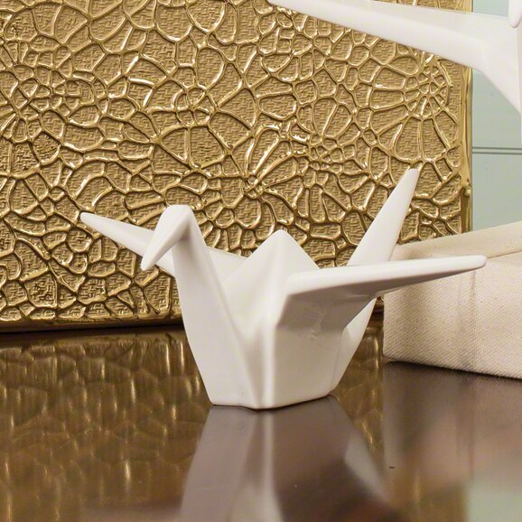 global views origami crane statue reviews wayfair. Black Bedroom Furniture Sets. Home Design Ideas