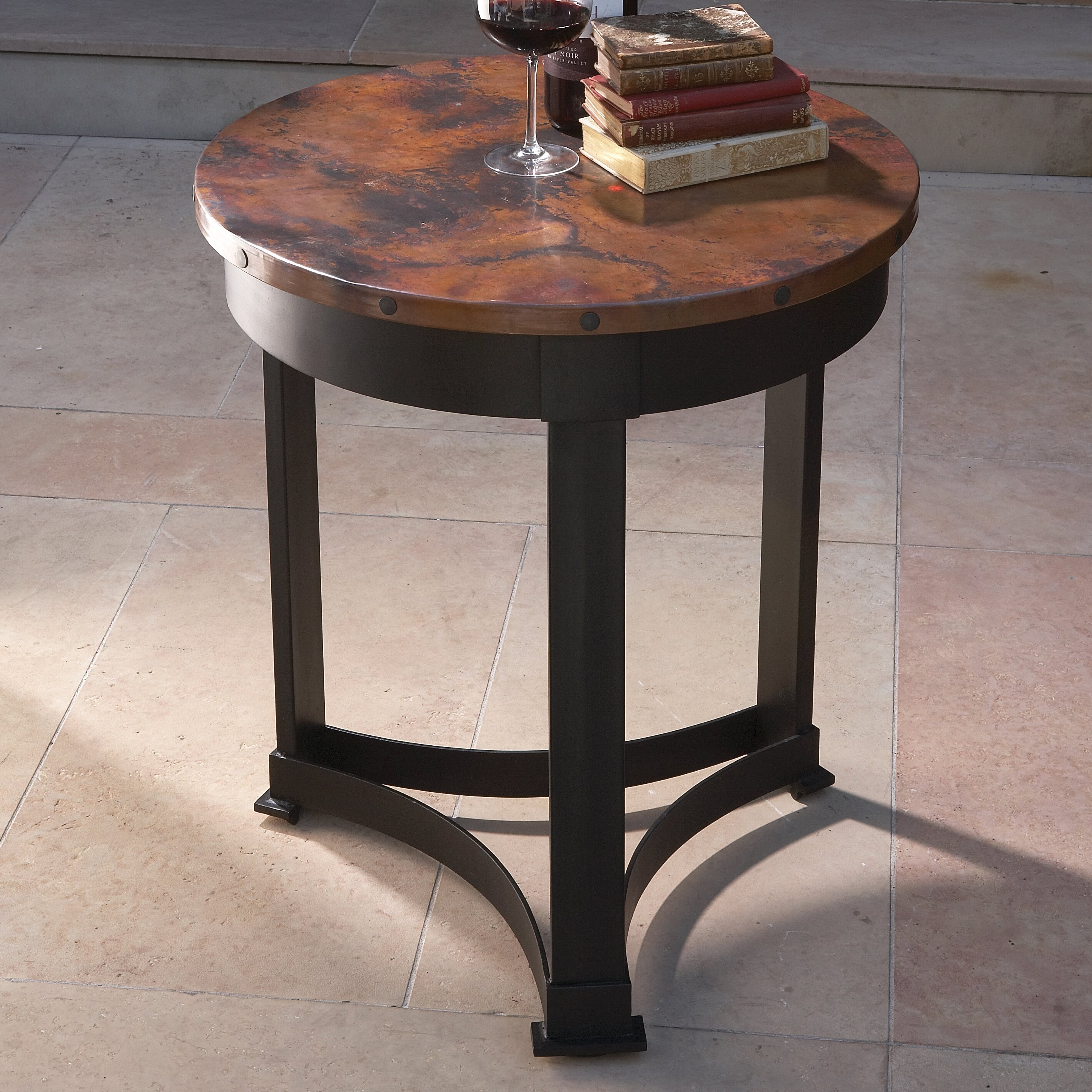 Global Views Classic Copper End Table & Reviews