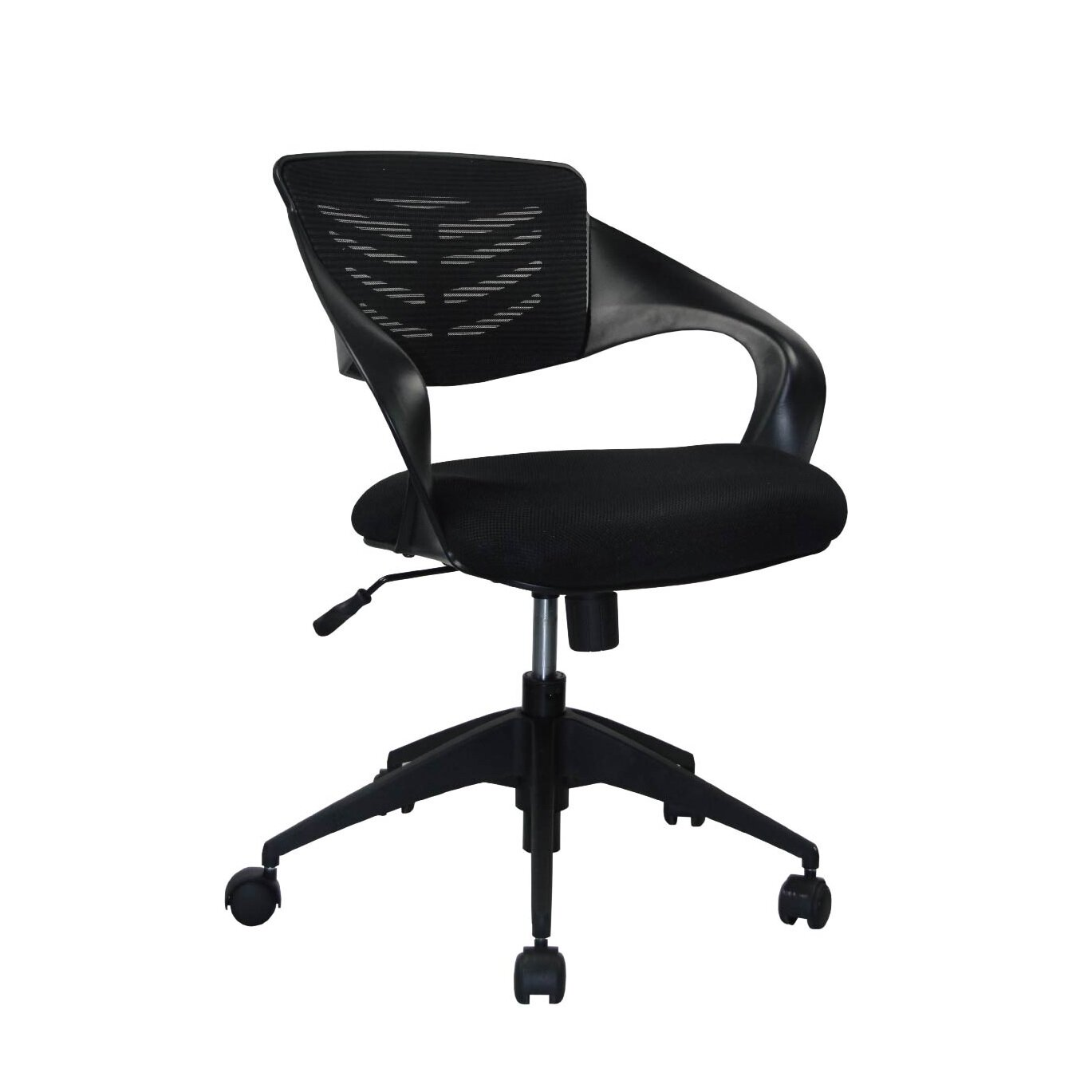 Manhattan comfort urban mid back mesh office chair with for Office chair casters