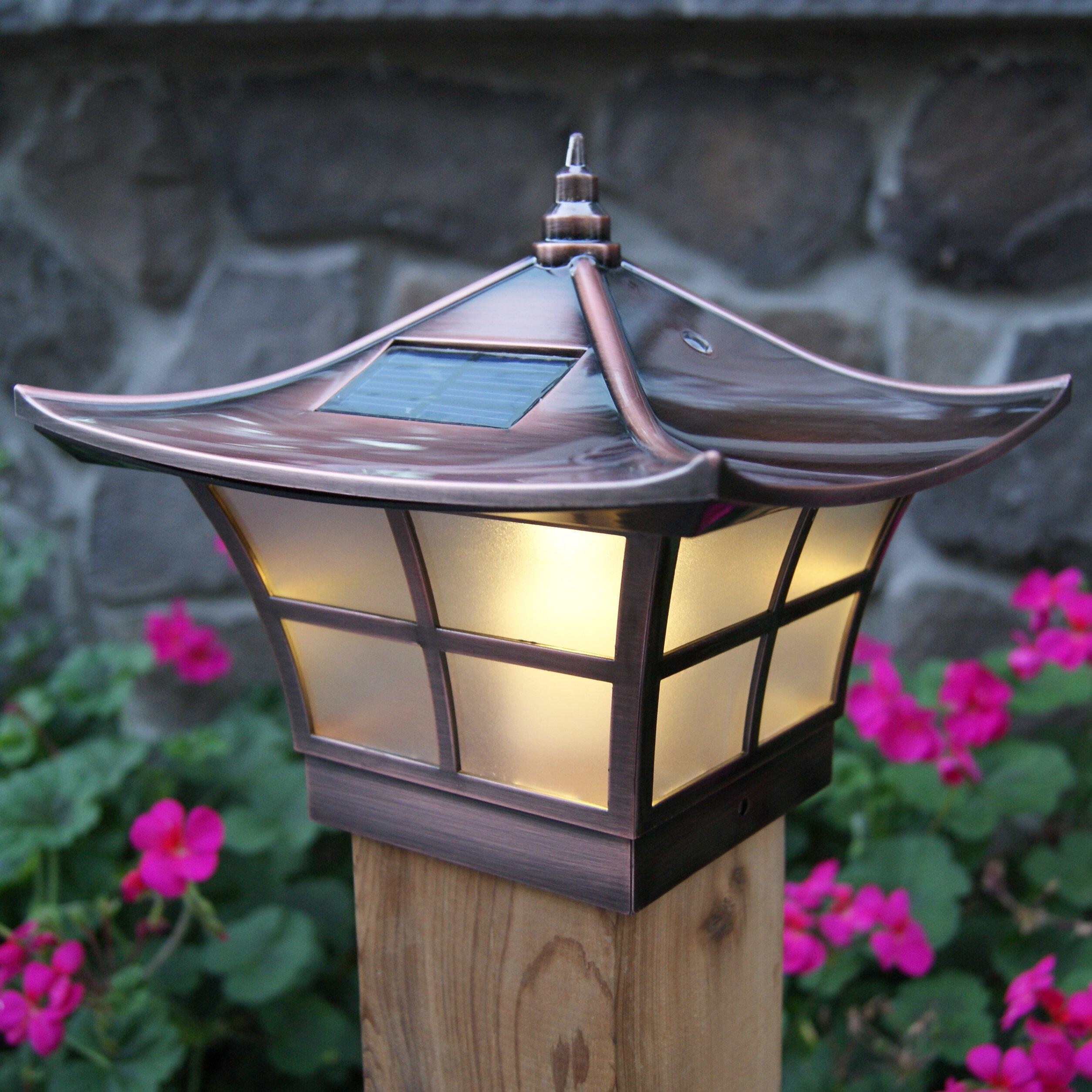 Classy Caps Solar 2 Light LED Fence Post Cap & Reviews ...