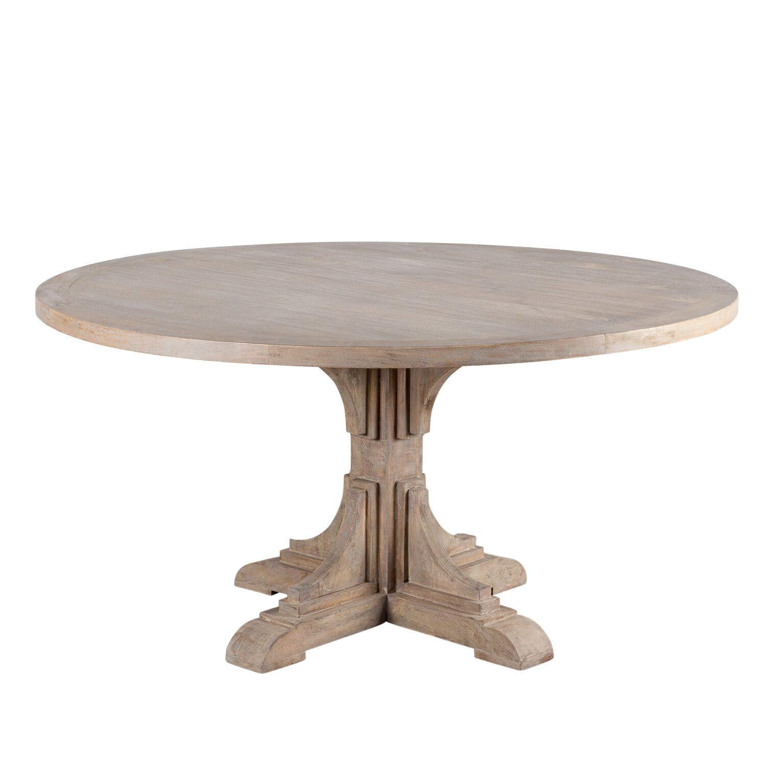 Wildon home marie round dining table reviews wayfair for Wayfair furniture dining tables