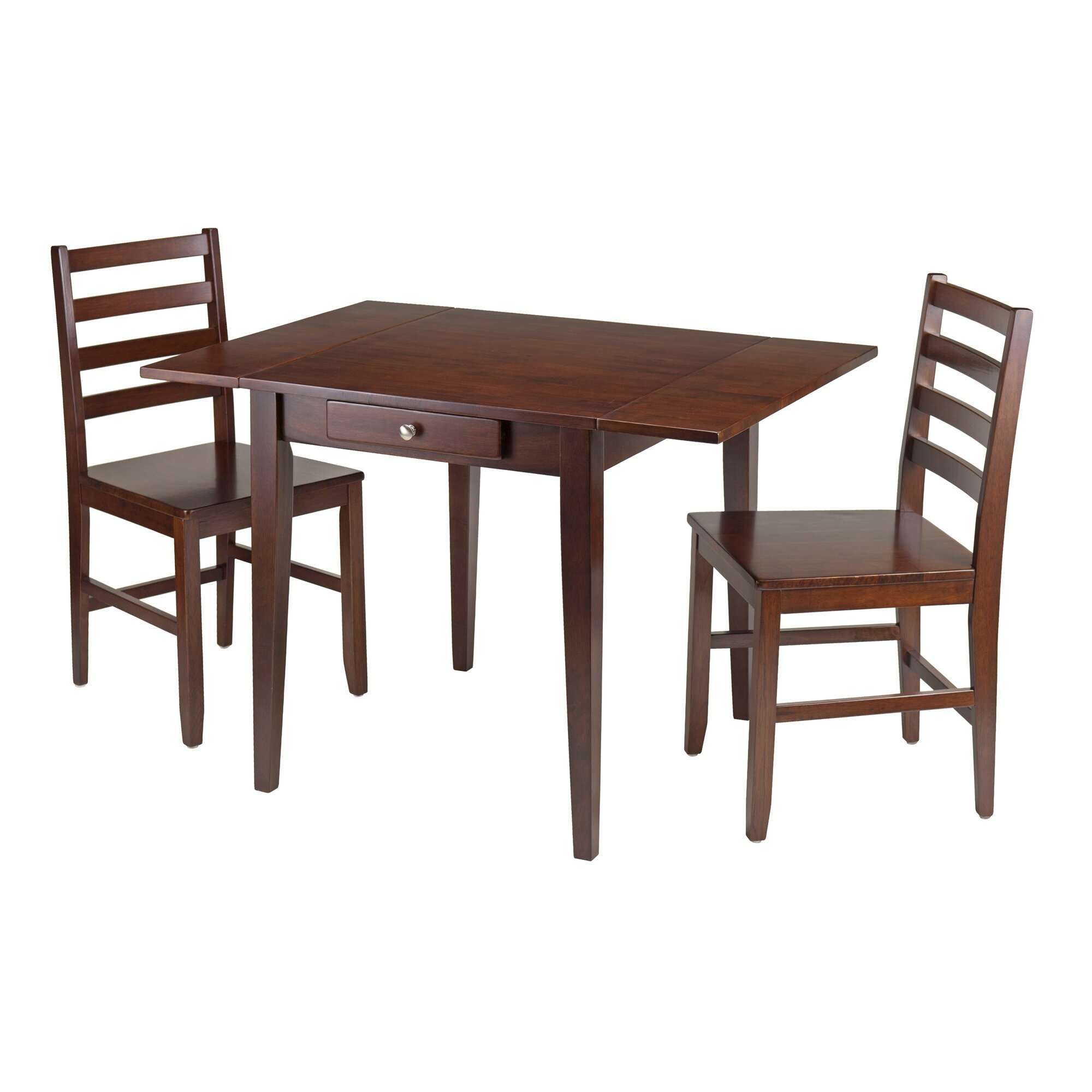 winsome hamilton 3 piece dining table set reviews wayfair. Black Bedroom Furniture Sets. Home Design Ideas