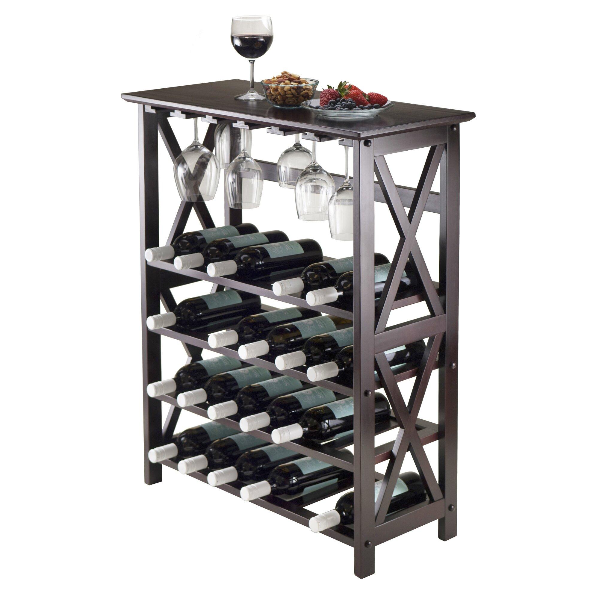 Winsome Rio 24 Bottle Floor Wine Rack Amp Reviews Wayfair