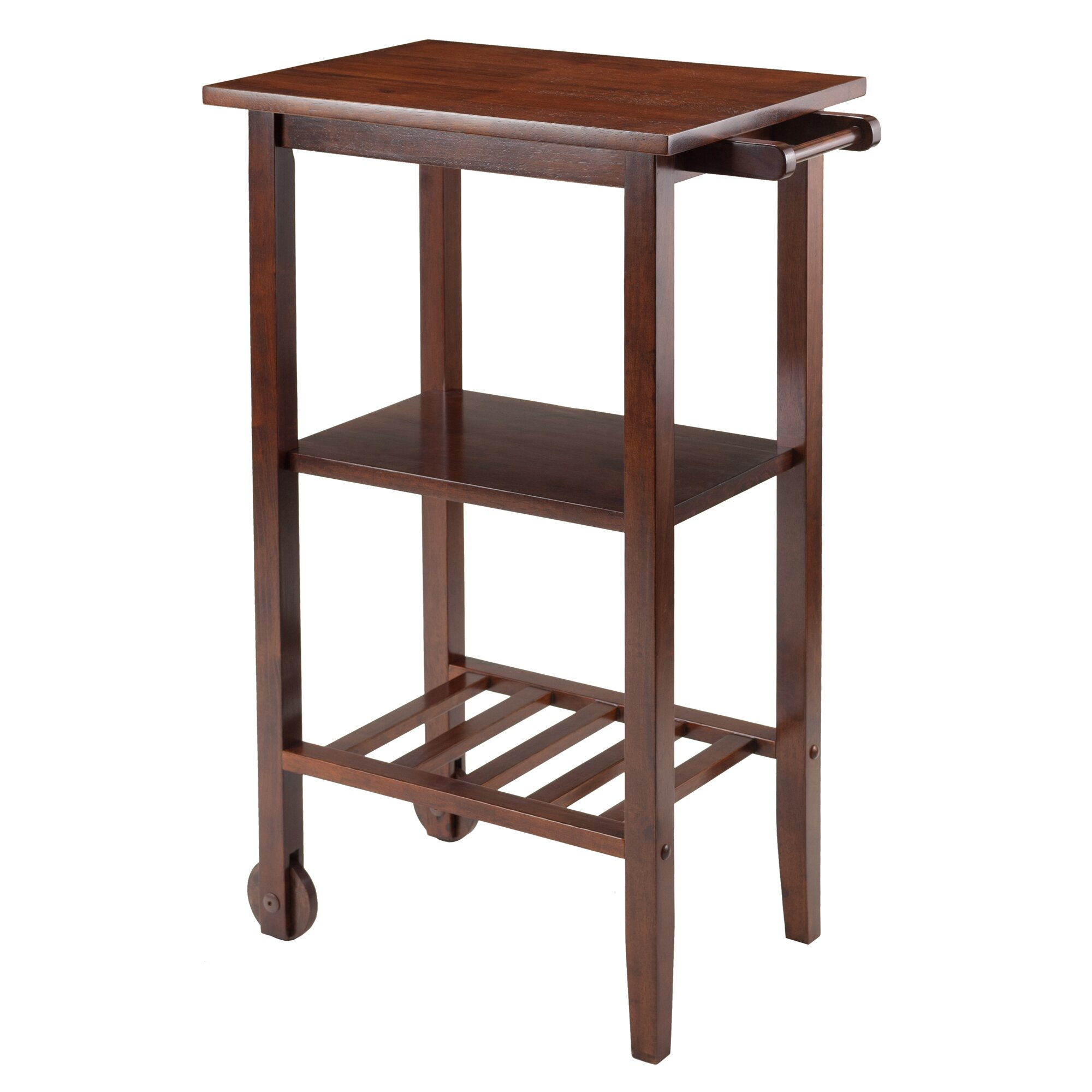 Winsome Stevenson Kitchen Cart With Wood Top Reviews
