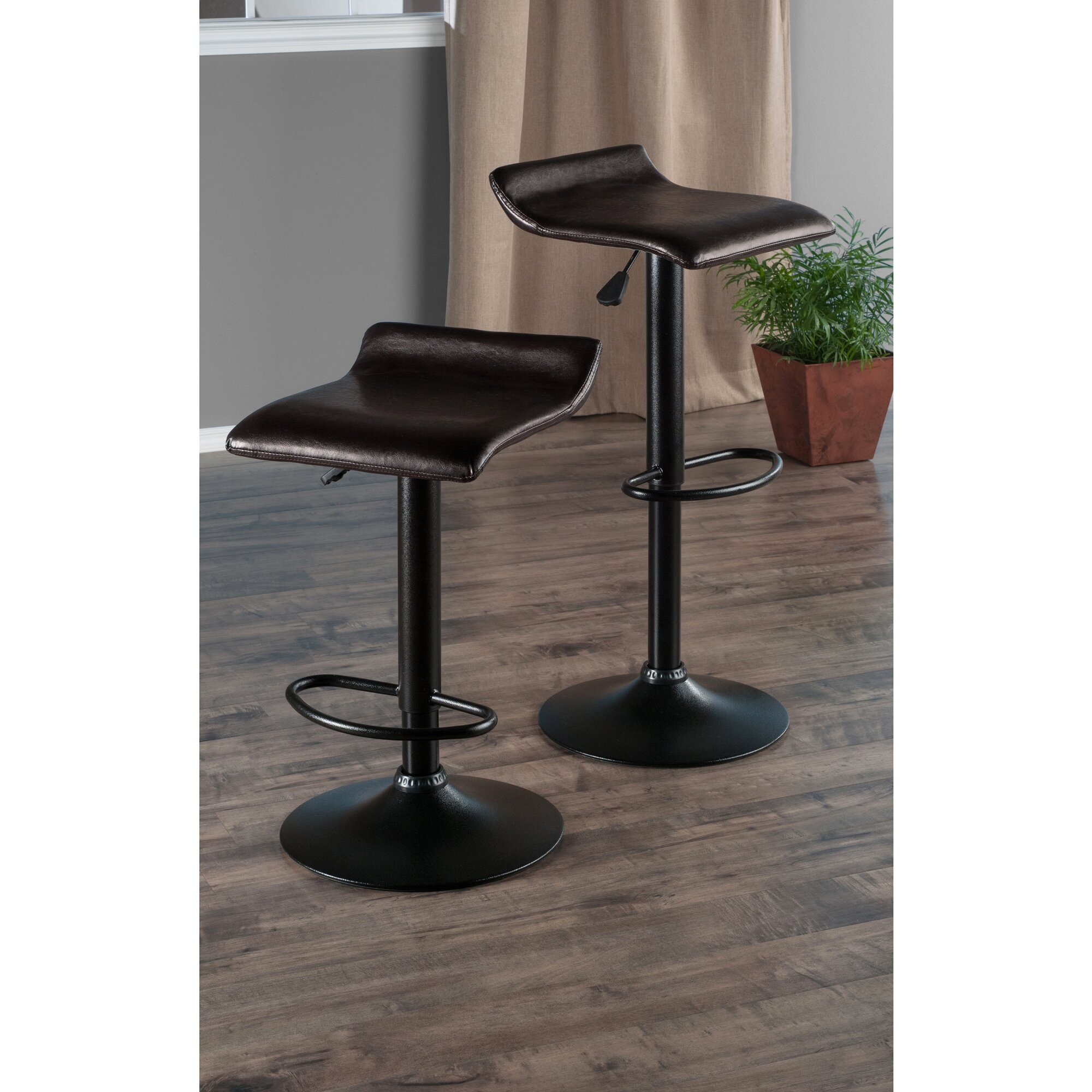 Winsome Paris Adjustable Height Swivel Bar Stool Amp Reviews