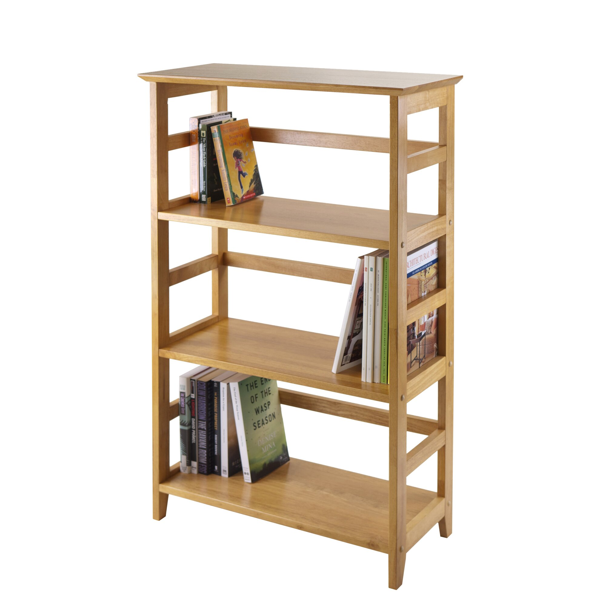 winsome studio 42 etagere bookcase reviews wayfair. Black Bedroom Furniture Sets. Home Design Ideas