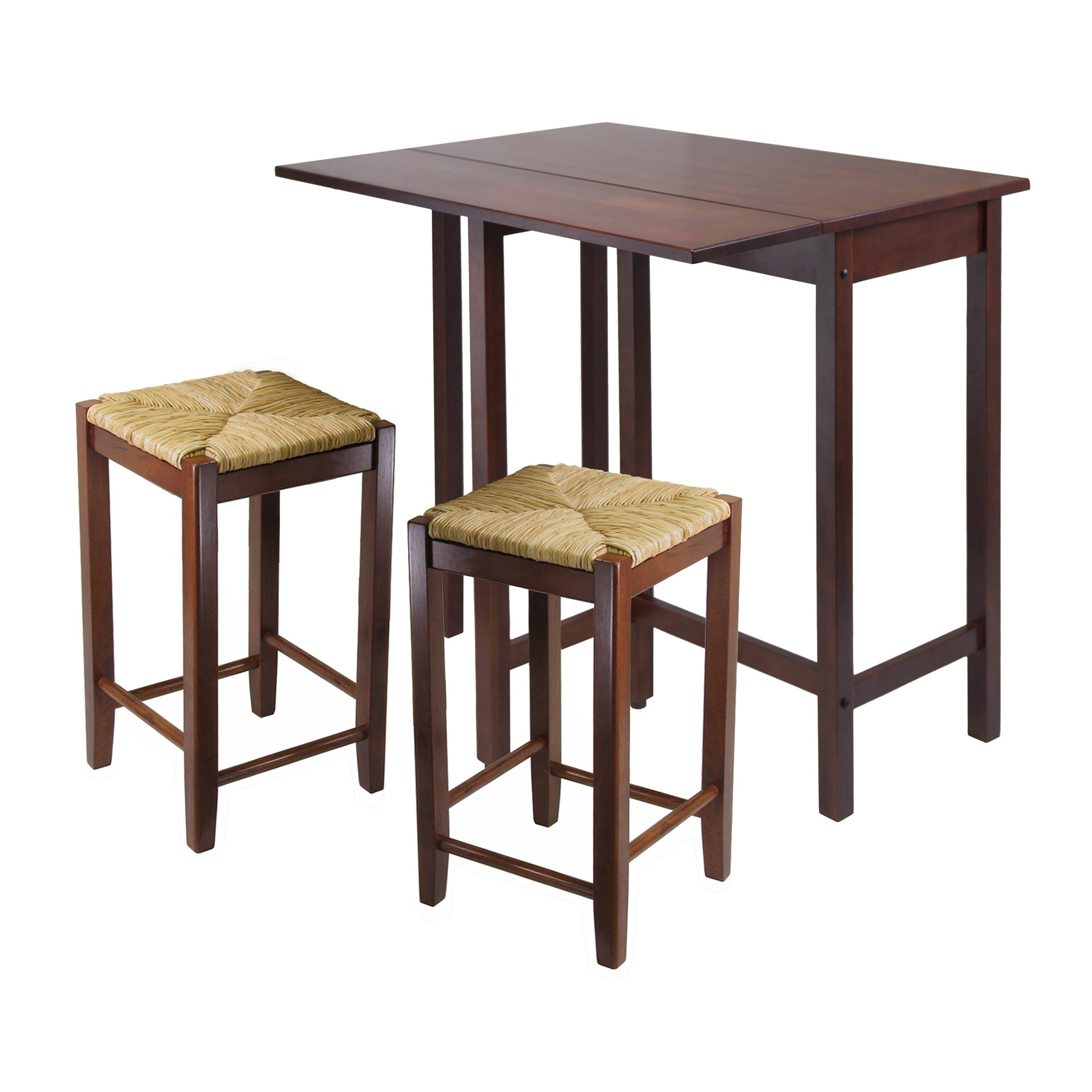 Winsome lynnwood 3 piece dining set reviews wayfair for Dining room 3 piece set