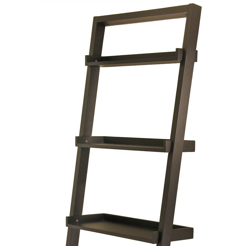 Winsome Bailey 75 Leaning Bookcase Reviews Wayfair