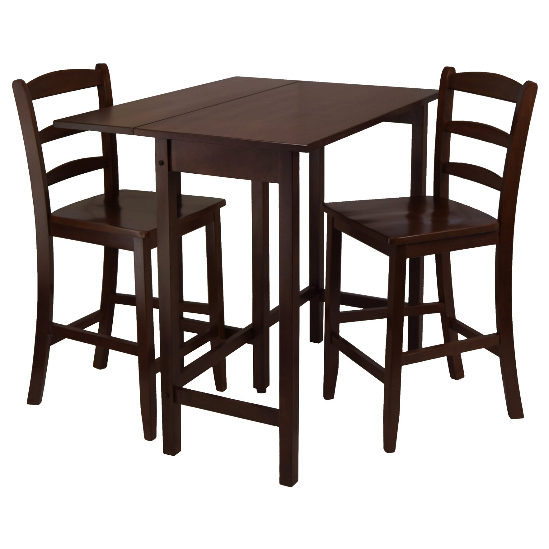 winsome lynnwood 3 piece dining table set reviews wayfair. Black Bedroom Furniture Sets. Home Design Ideas