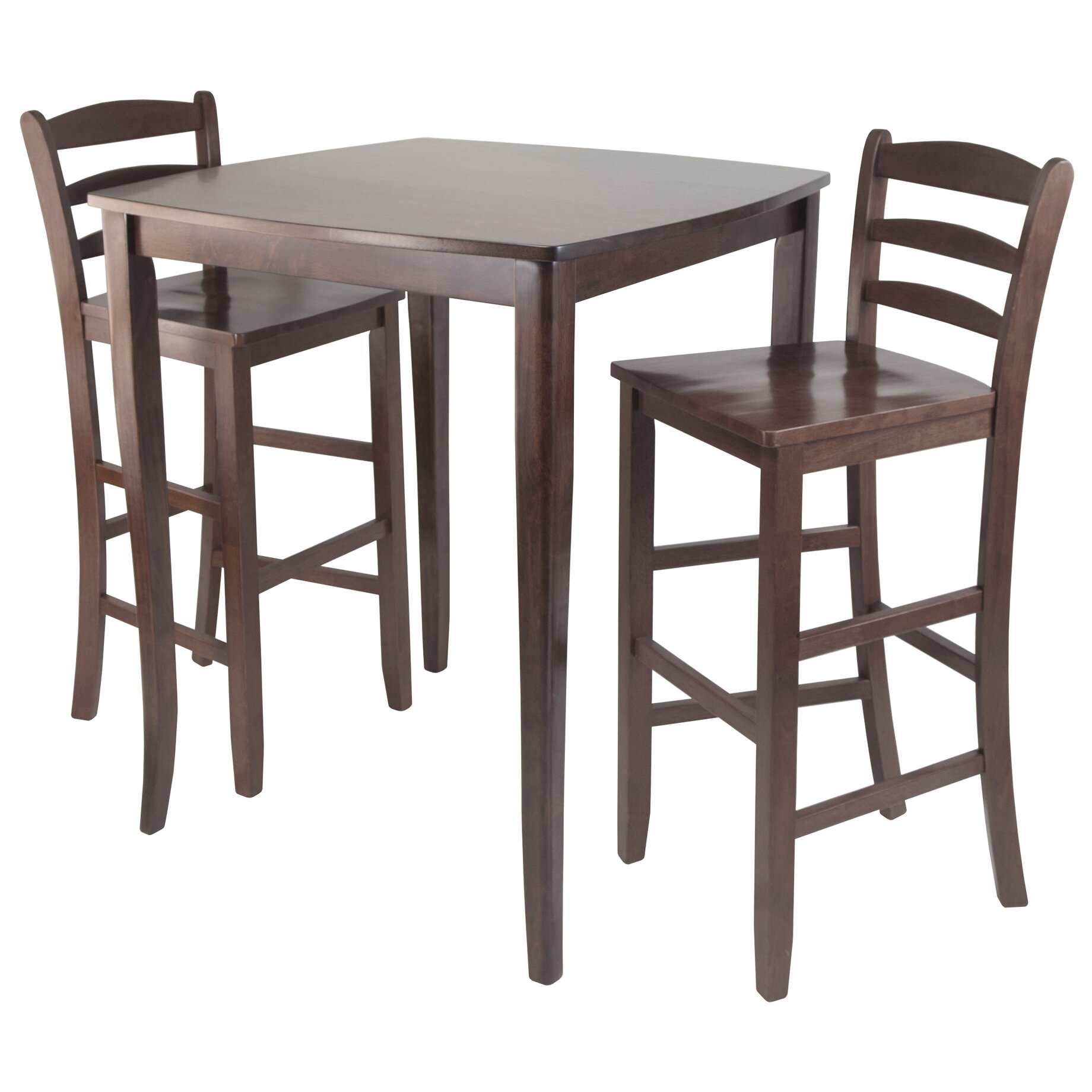White Counter Height Dining Table Set Of 3 Piece Bar Pub: Winsome Inglewood 3 Piece Counter Height Pub Table Set