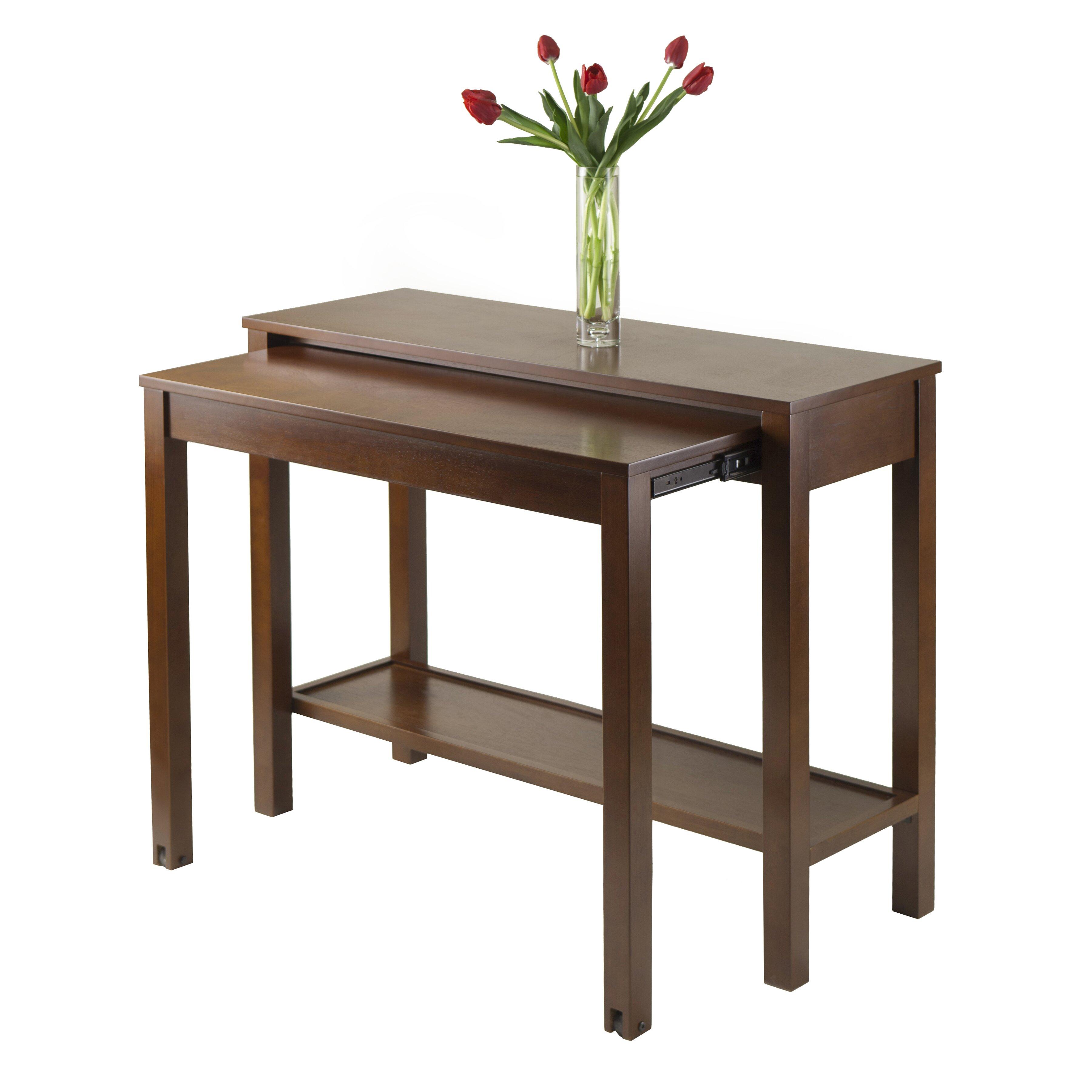 Winsome brandon expandable console table reviews wayfair for Expandable furniture