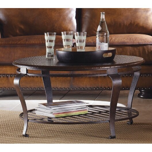 Bernhardt clark coffee table set reviews wayfair for Black round coffee table set