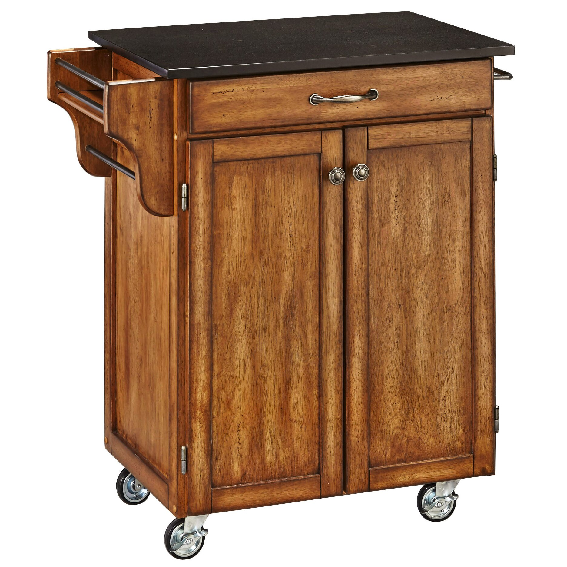 Home Styles Cuisine Kitchen Cart With Granite Top Reviews Wayfair