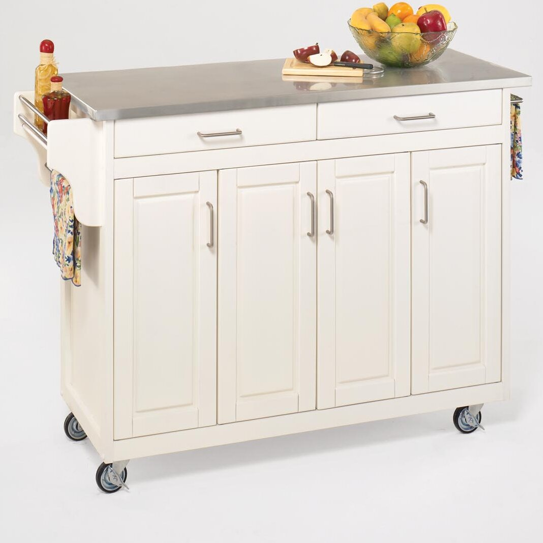 home styles create a cart kitchen island with stainless crosley furniture stainless steel top kitchen cart island