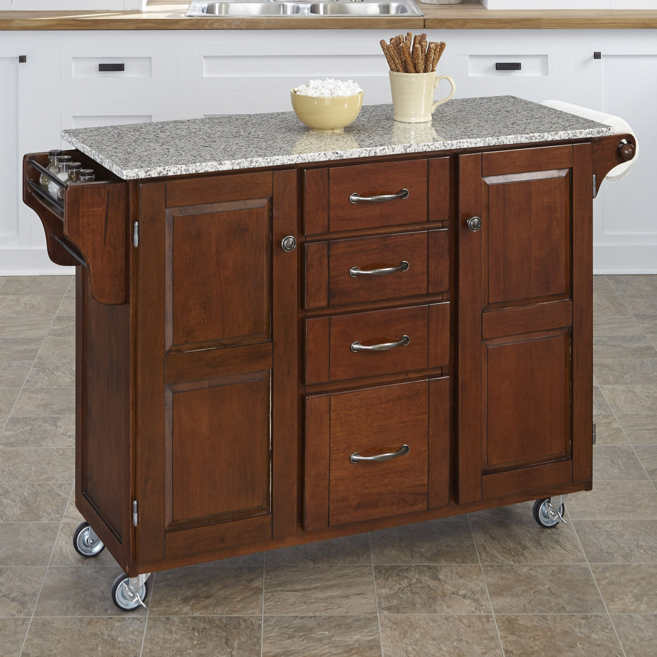 Home Styles Create A Cart Kitchen Island With Granite Top