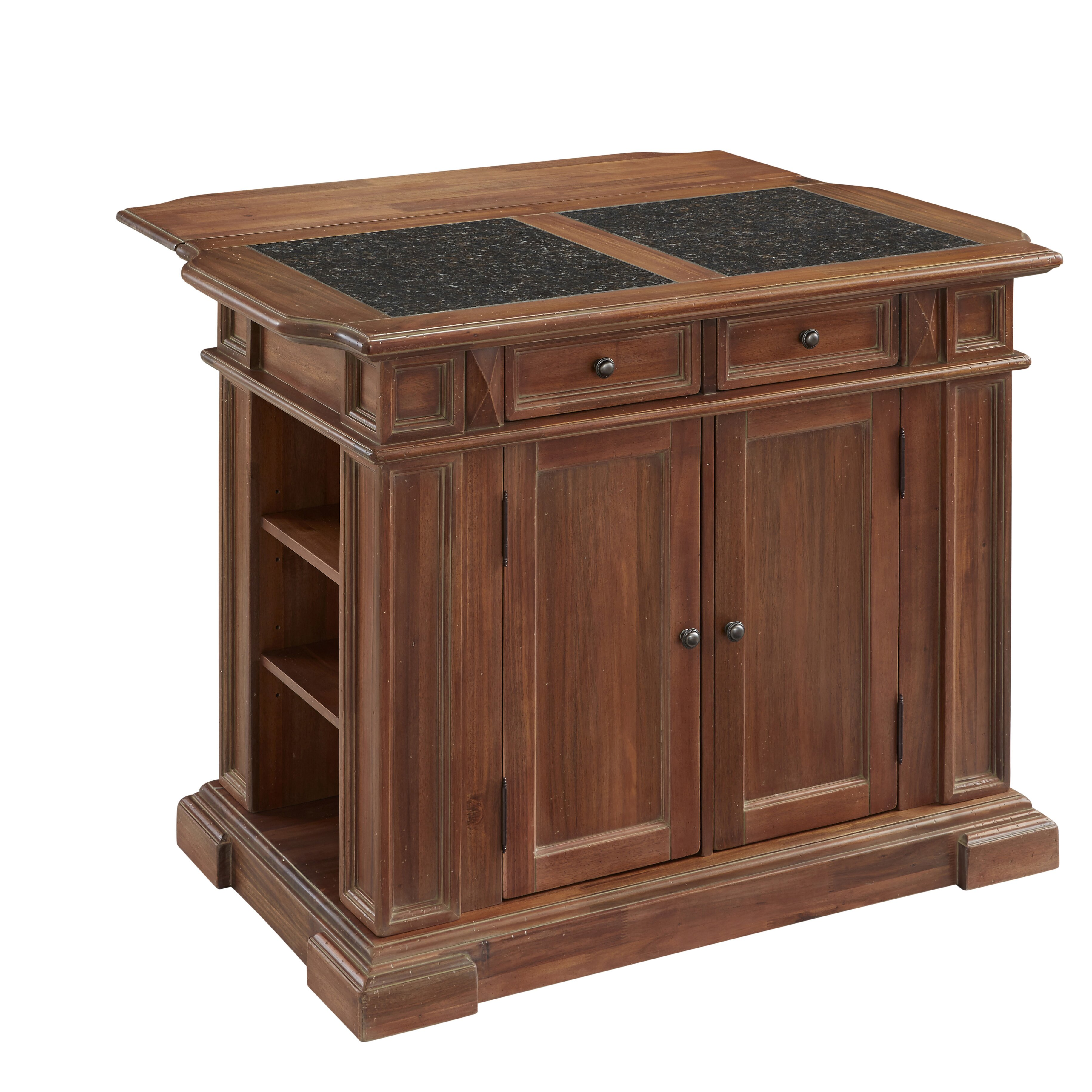 home styles americana kitchen island with granite top home styles crescent hill kitchen island amp reviews wayfair
