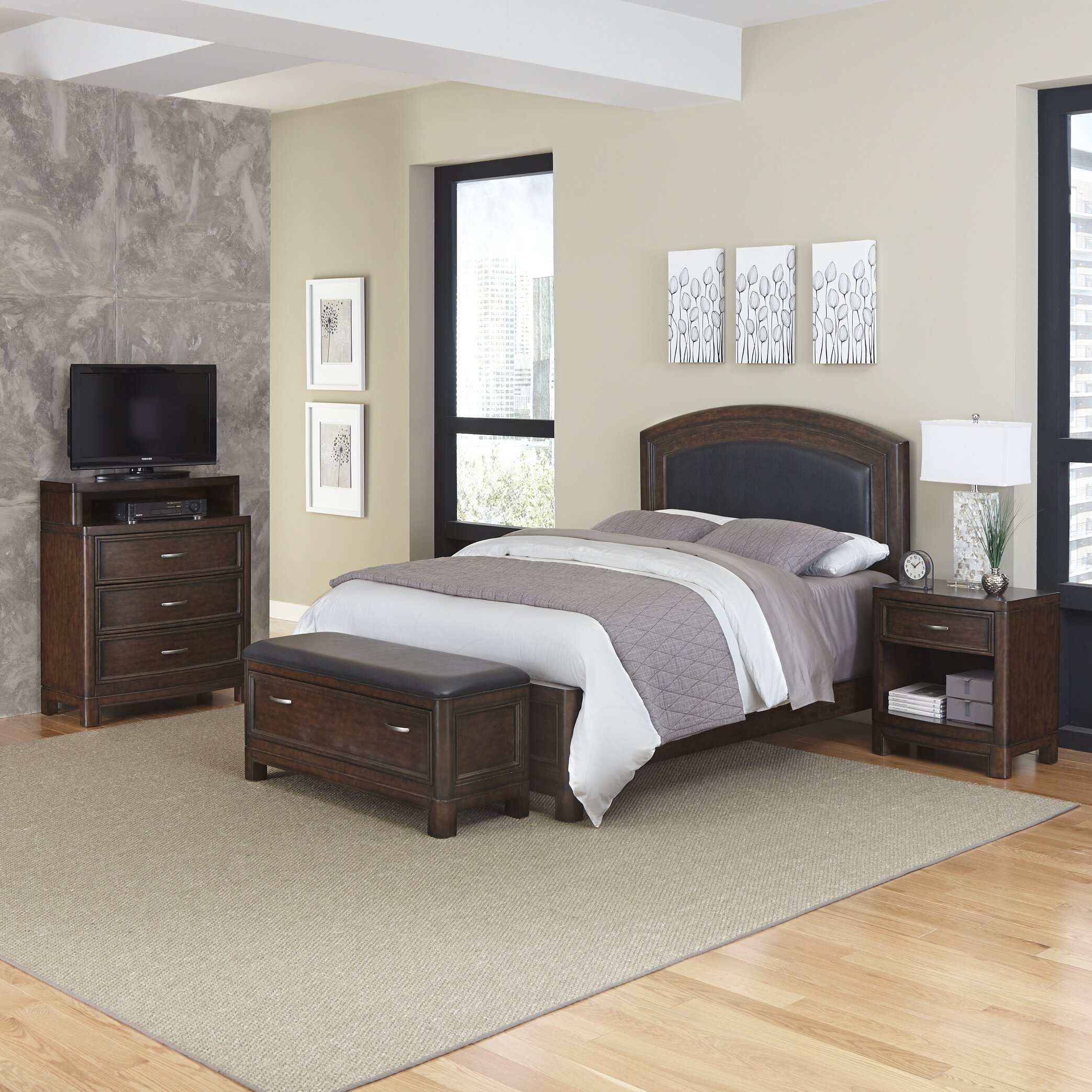 Home Styles Crescent Hill Panel 4 Piece Bedroom Set Wayfair