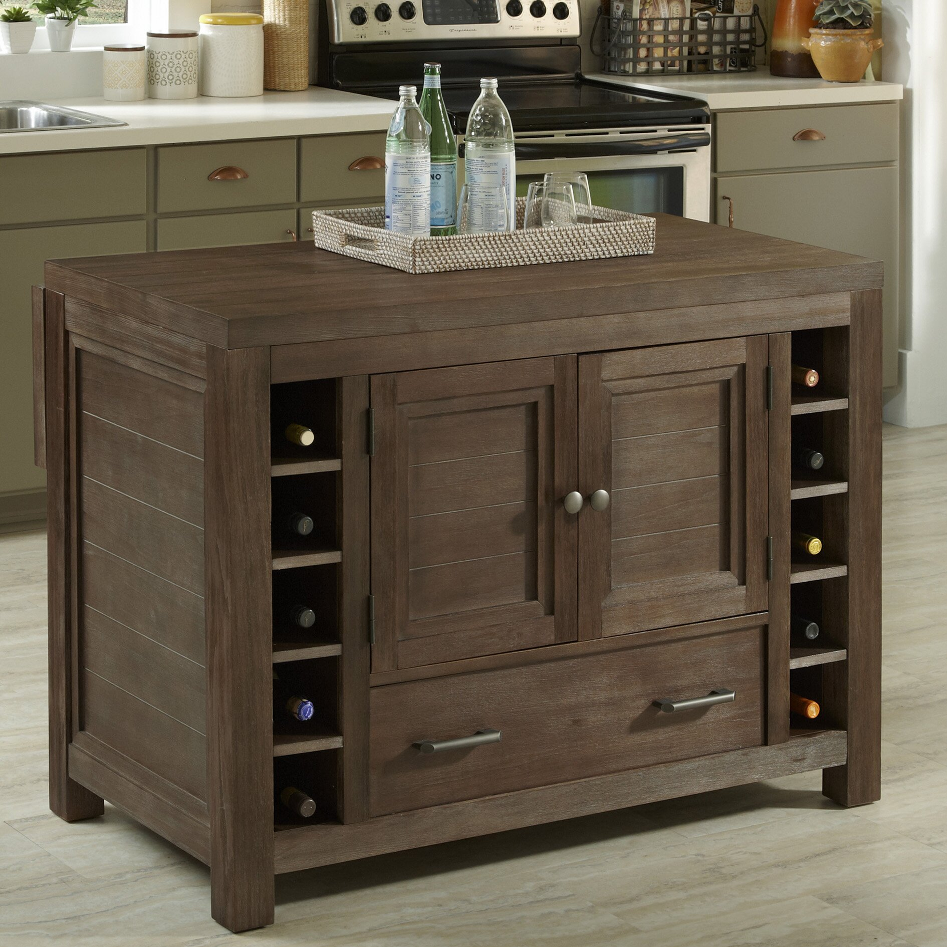 Home styles barnside kitchen island reviews wayfair for Homestyles com