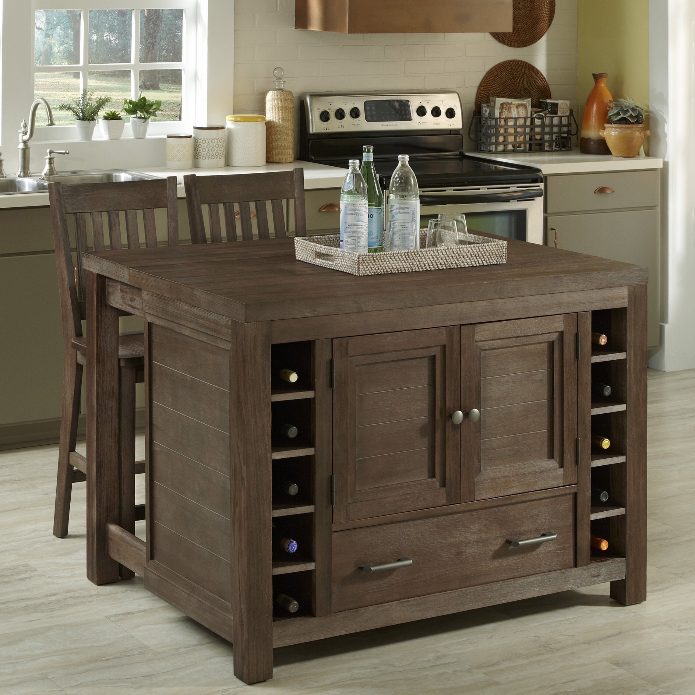 Home styles barnside kitchen island set reviews wayfair Homestyles com