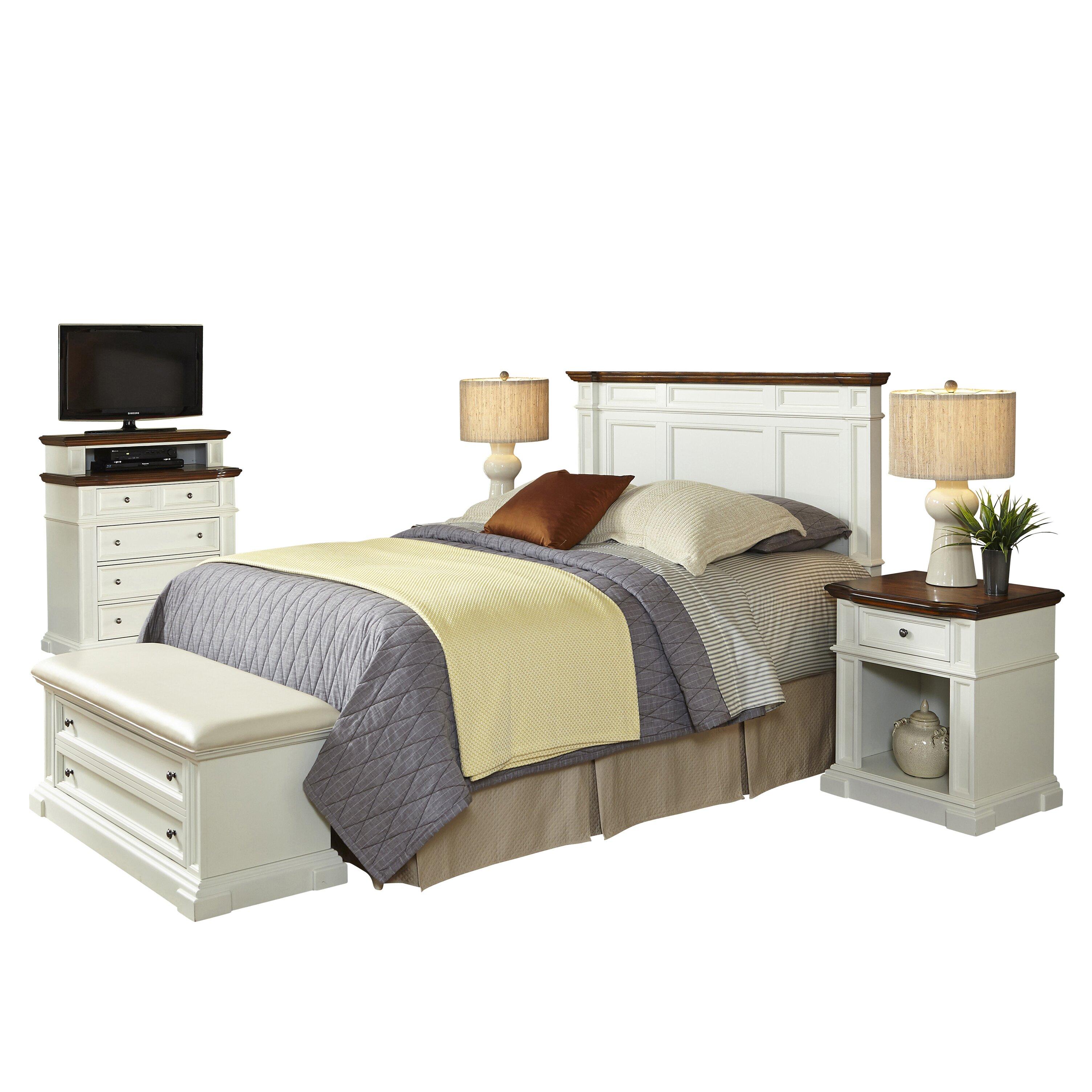 home styles americana platfrom 5 piece bedroom set reviews wayfair. Black Bedroom Furniture Sets. Home Design Ideas
