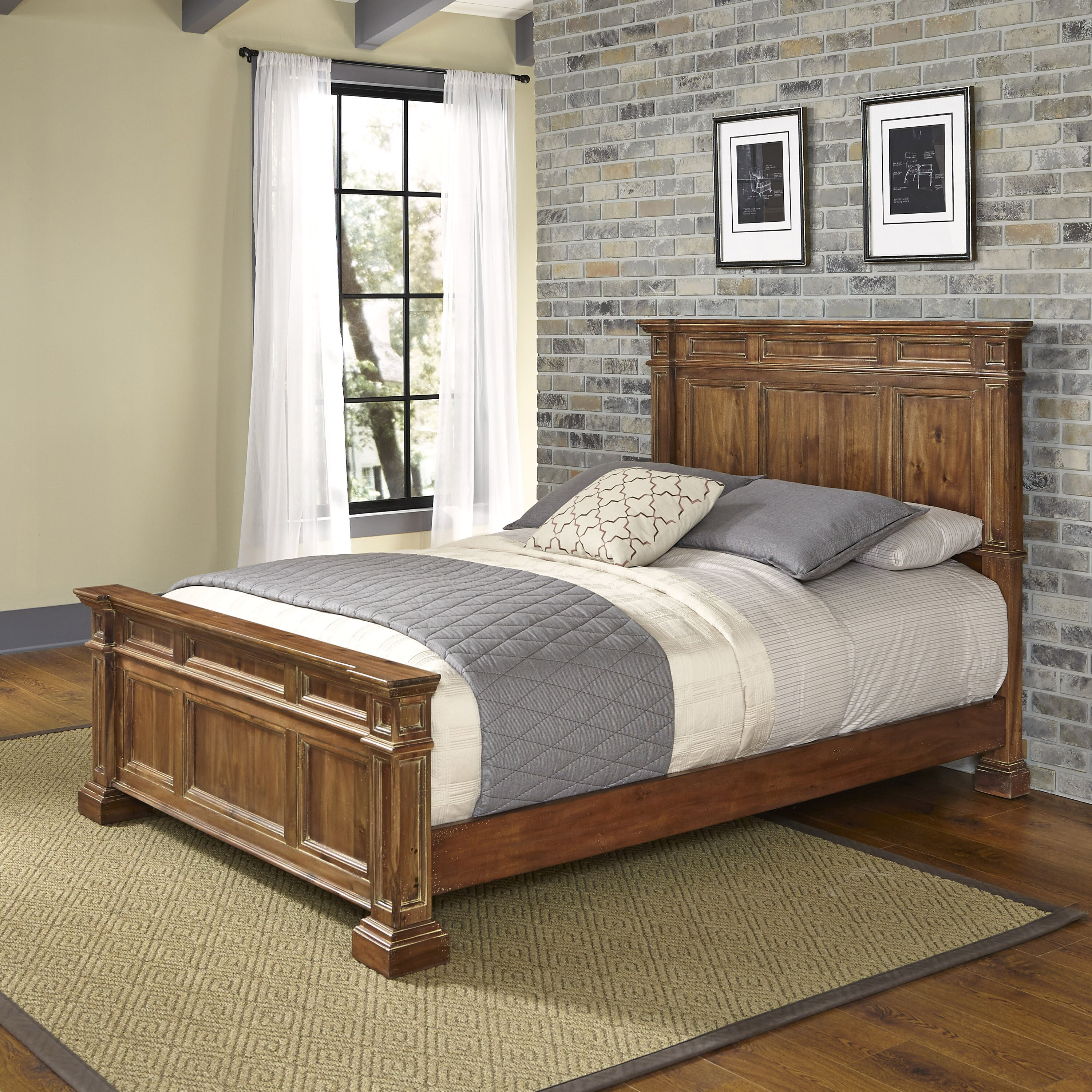 Home styles americana vintage panel bed reviews wayfair for Americana style house