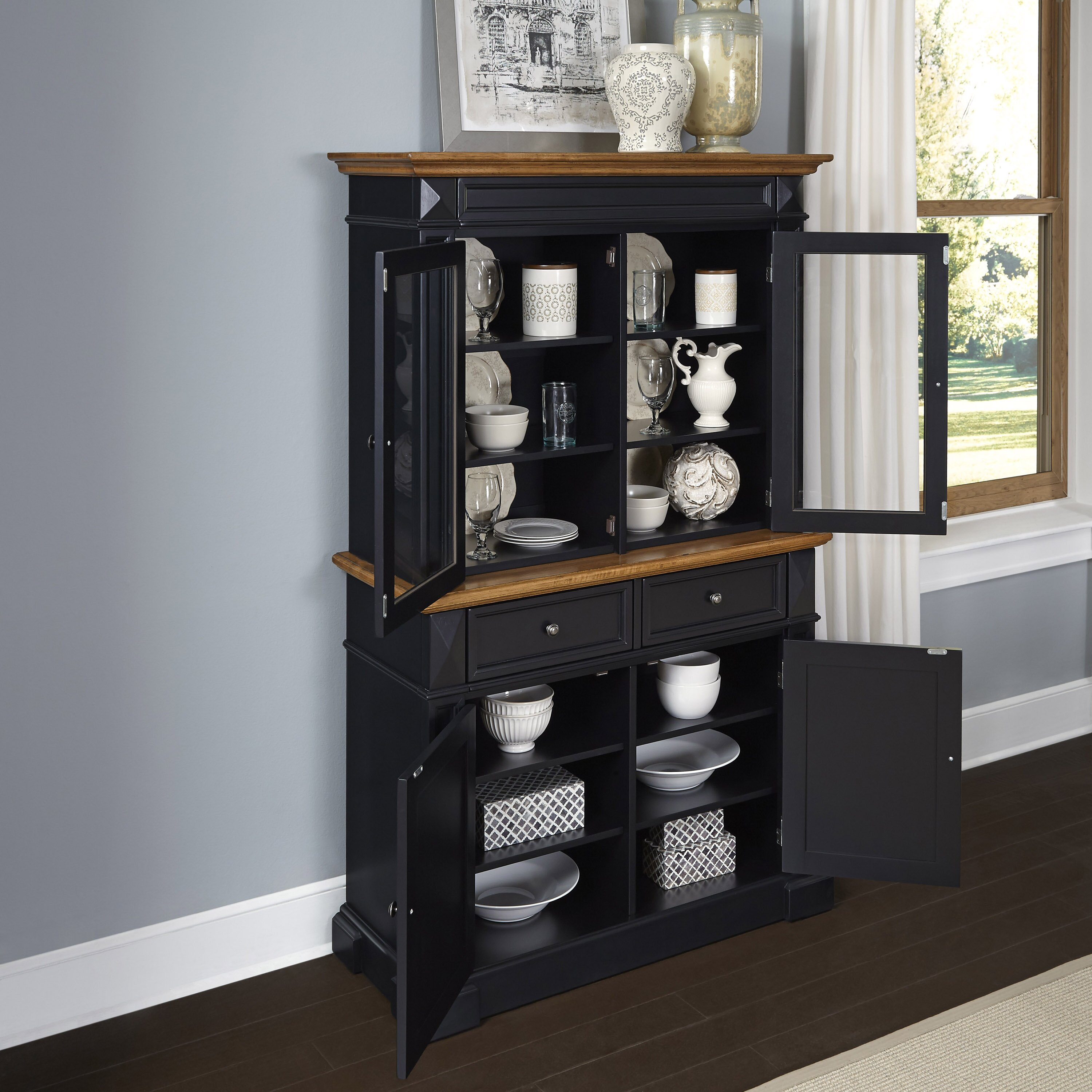 Kitchen China Cabinet: Home Styles Americana China Cabinet & Reviews