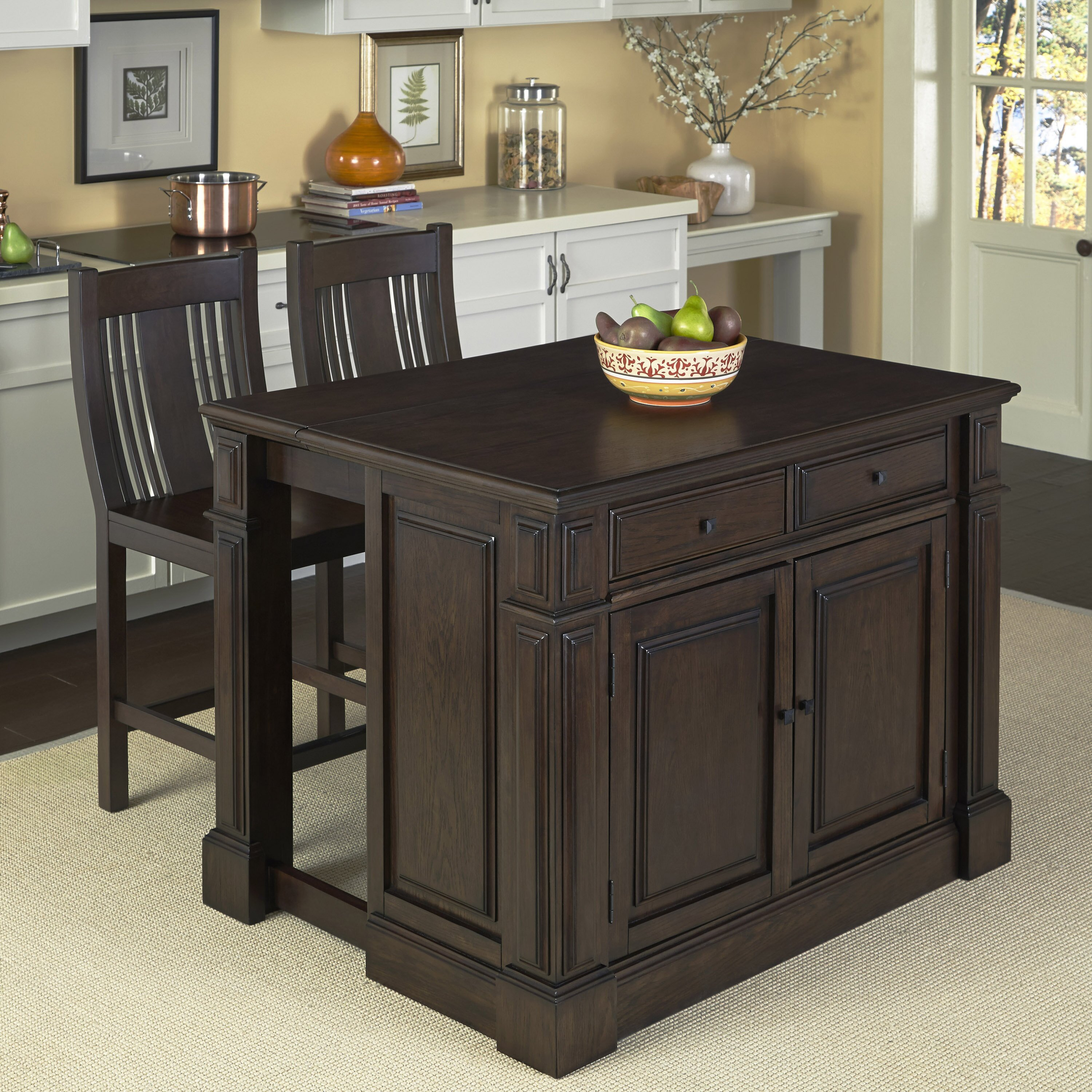 Home Styles Prairie Home 3 Piece Kitchen Island Set Reviews Wayfair