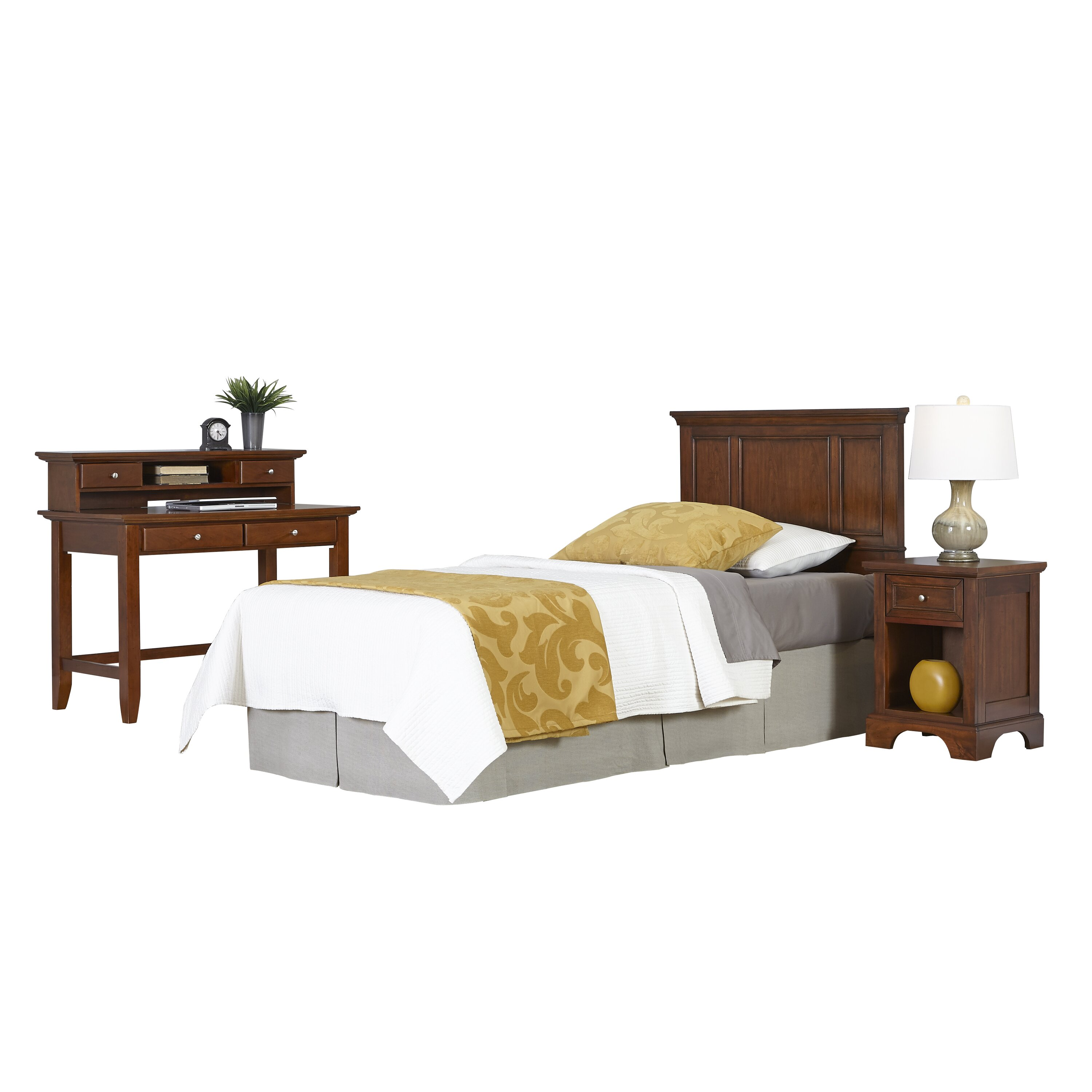 home styles chesapeake panel 4 piece bedroom set wayfair. Black Bedroom Furniture Sets. Home Design Ideas