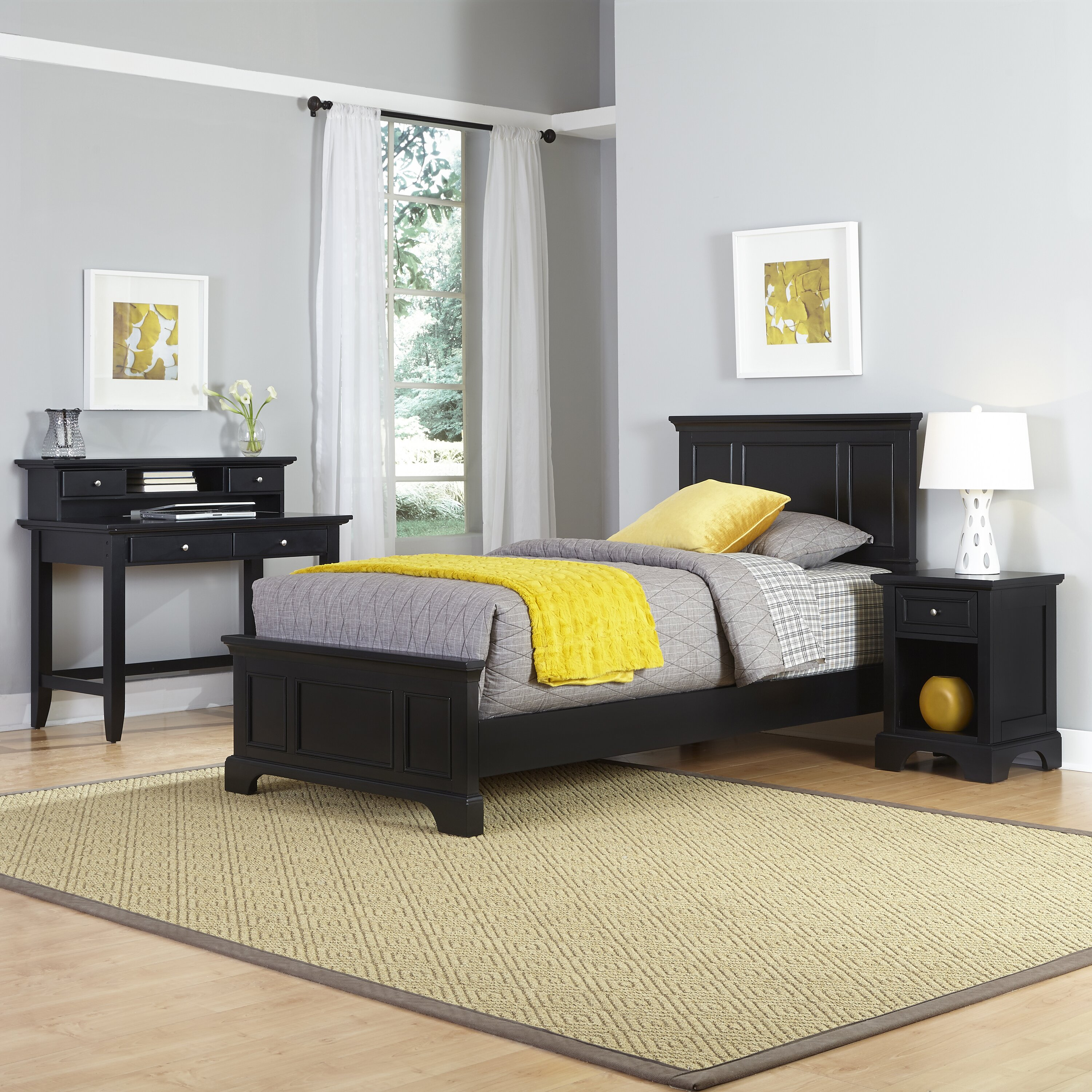 Home Styles Bedford Panel 4 Piece Bedroom Set