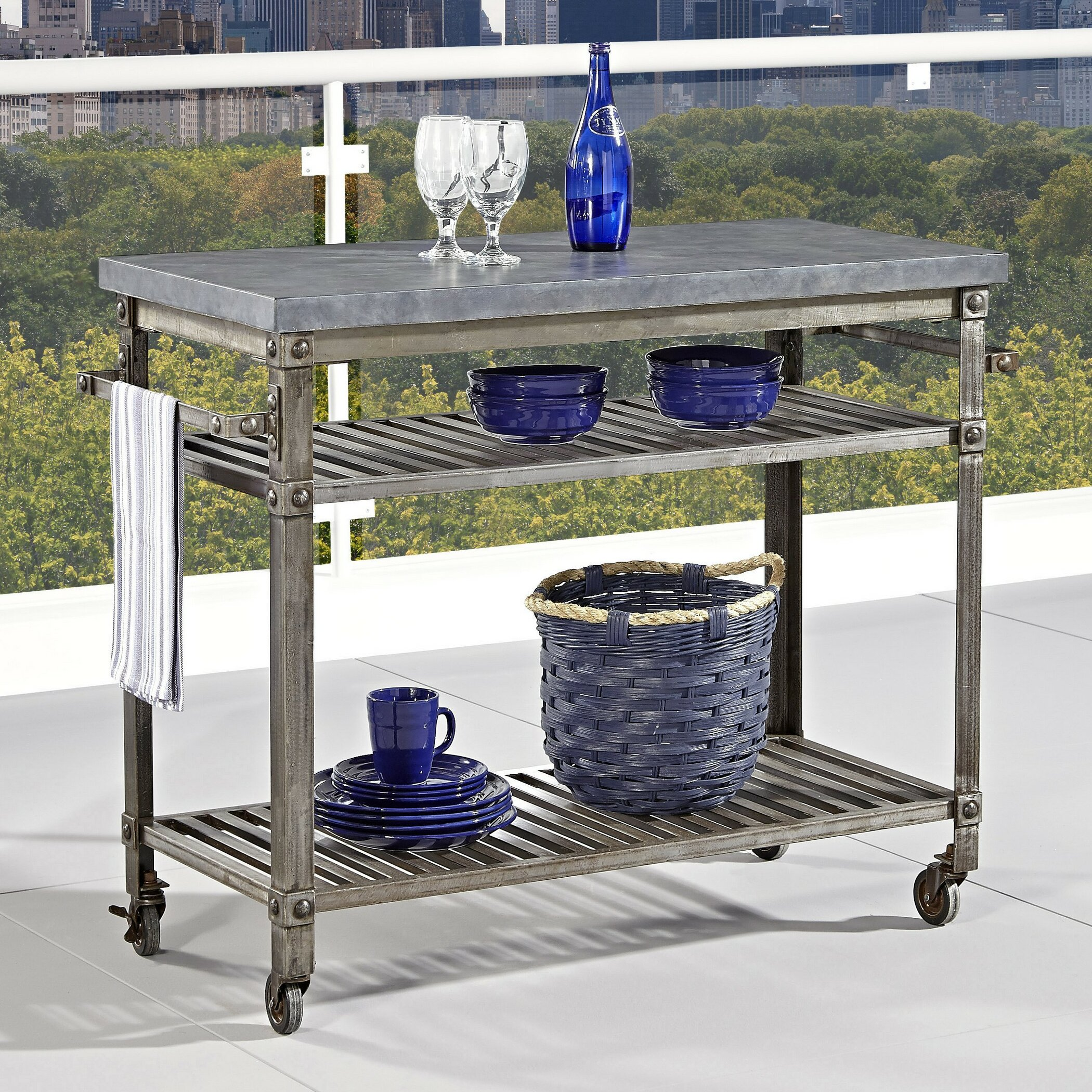 Urban Metal Kitchen Cart: Home Styles Urban Serving Cart & Reviews