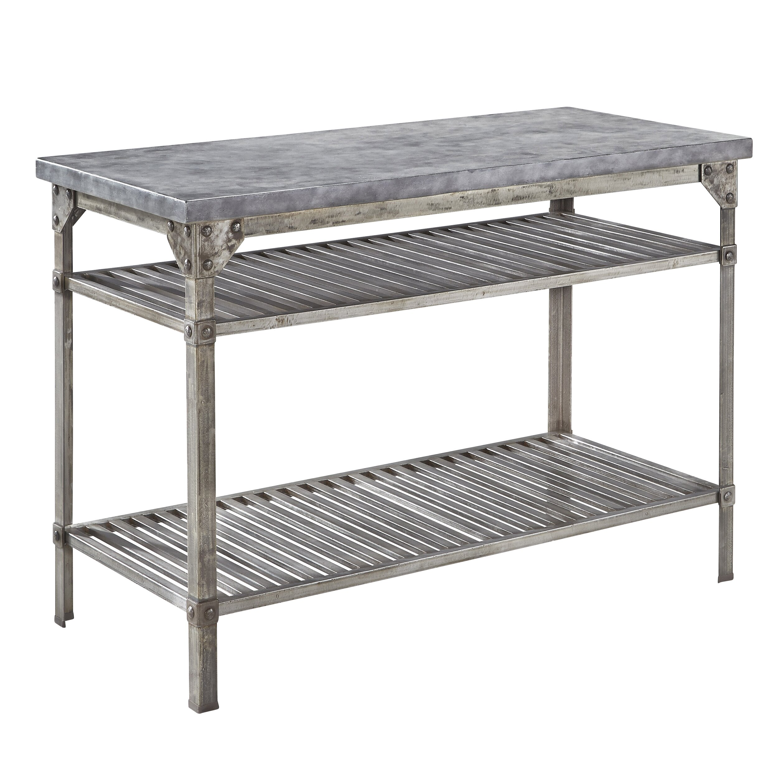 Home Styles Urban Style Prep Table With Concrete Top Reviews Wayfair