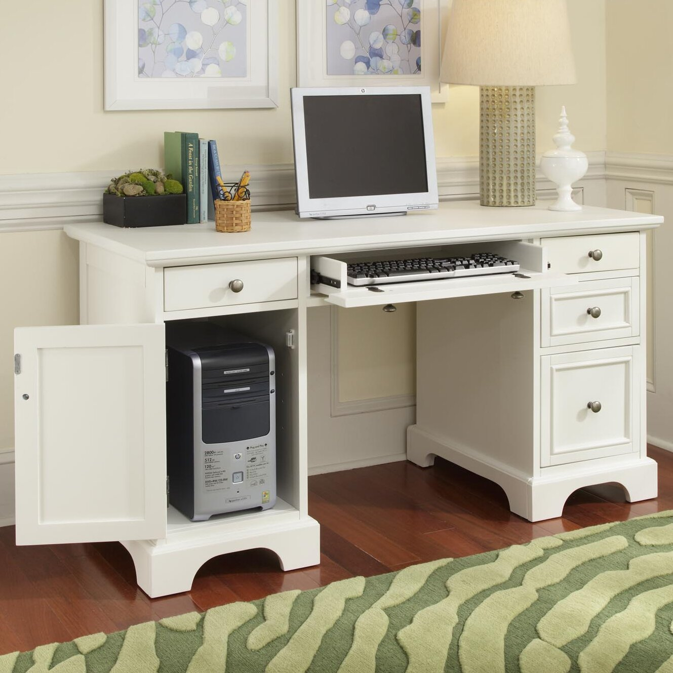 Home Styles Naples Computer Desk With Keyboard Tray