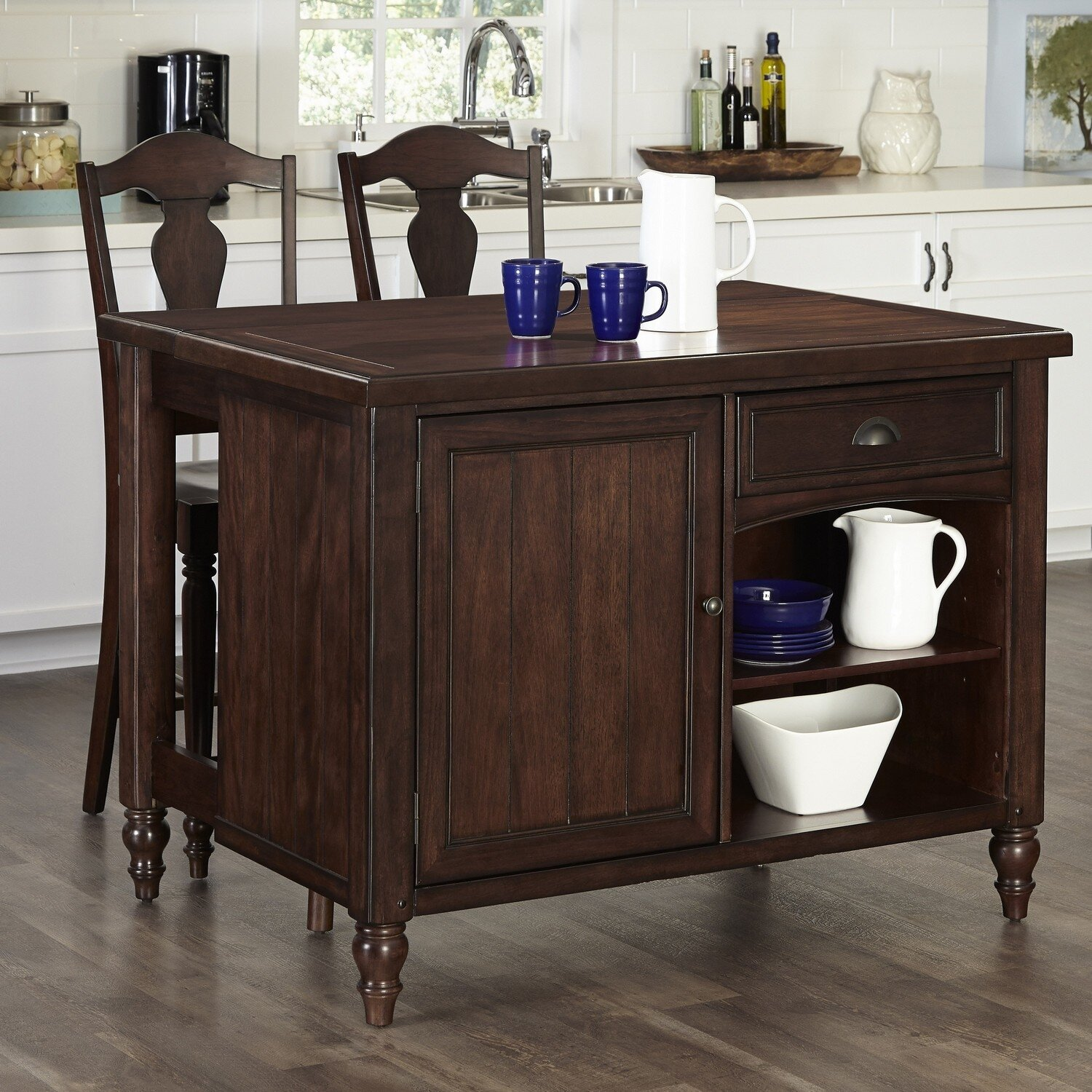 Home Styles Country Comfort Kitchen Island Set Wayfair