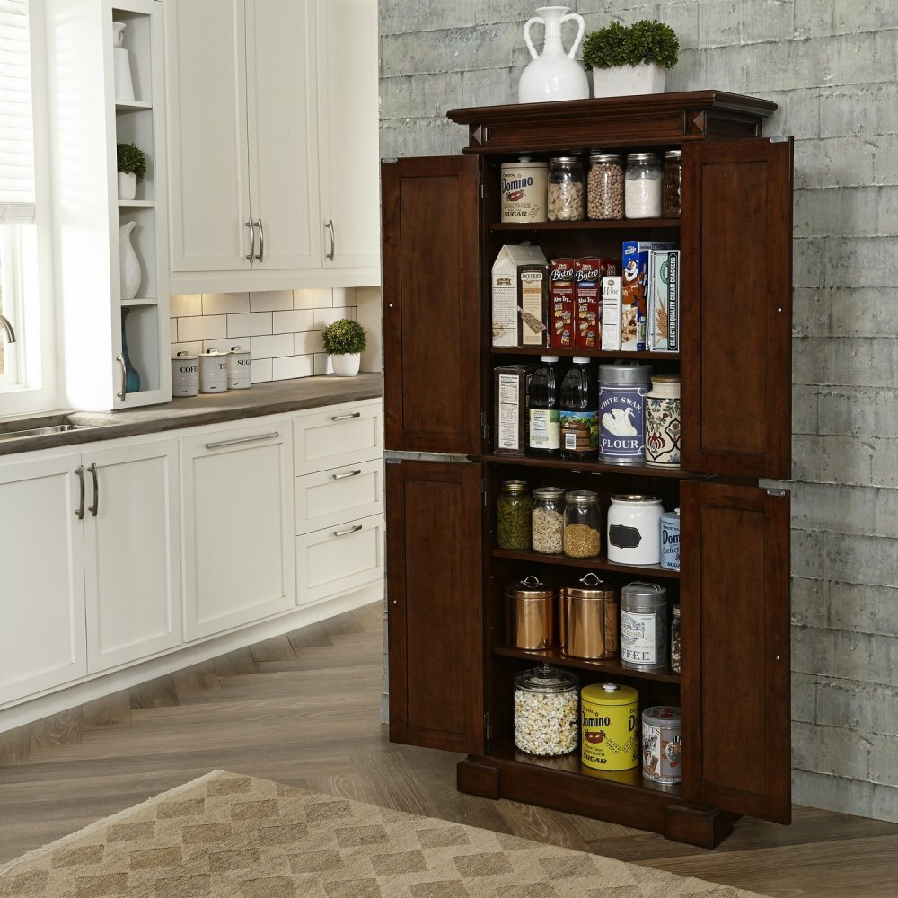 "Home Styles Americana 72"" Kitchen Pantry & Reviews 
