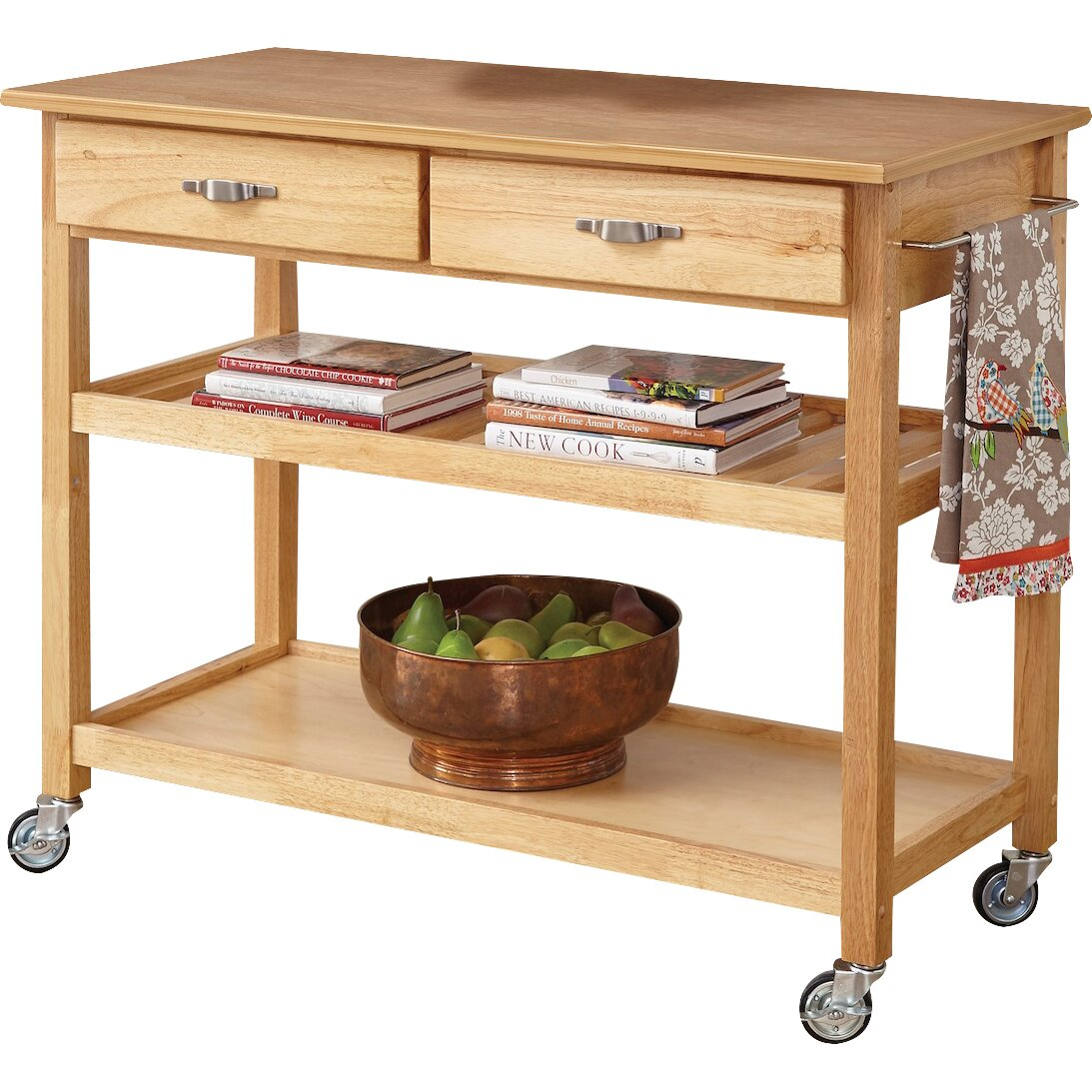 Home Styles 4528 95 Kitchen Island Cart: Home Styles Kitchen Island With Wood Top & Reviews
