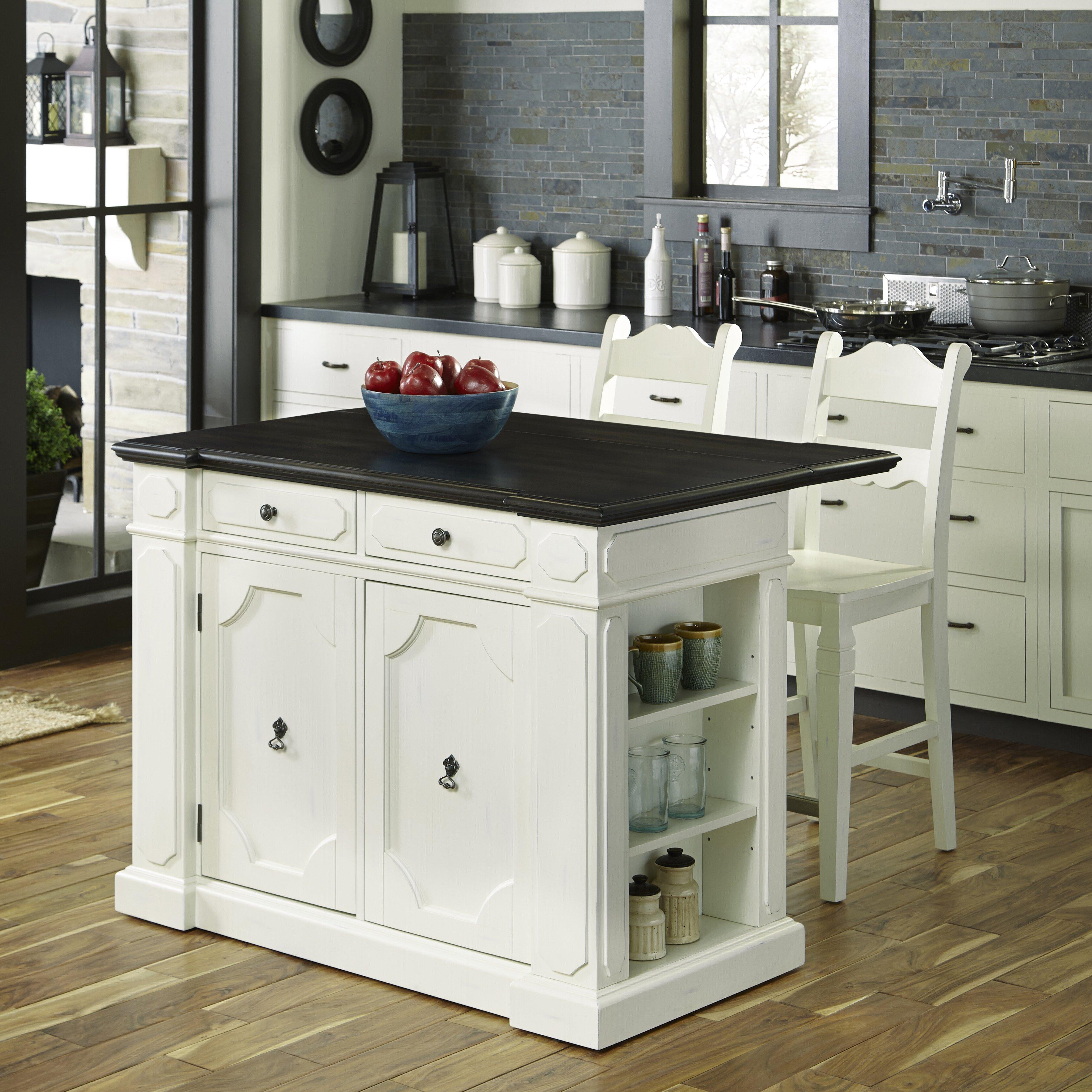 Home Styles Fiesta Kitchen Island Set