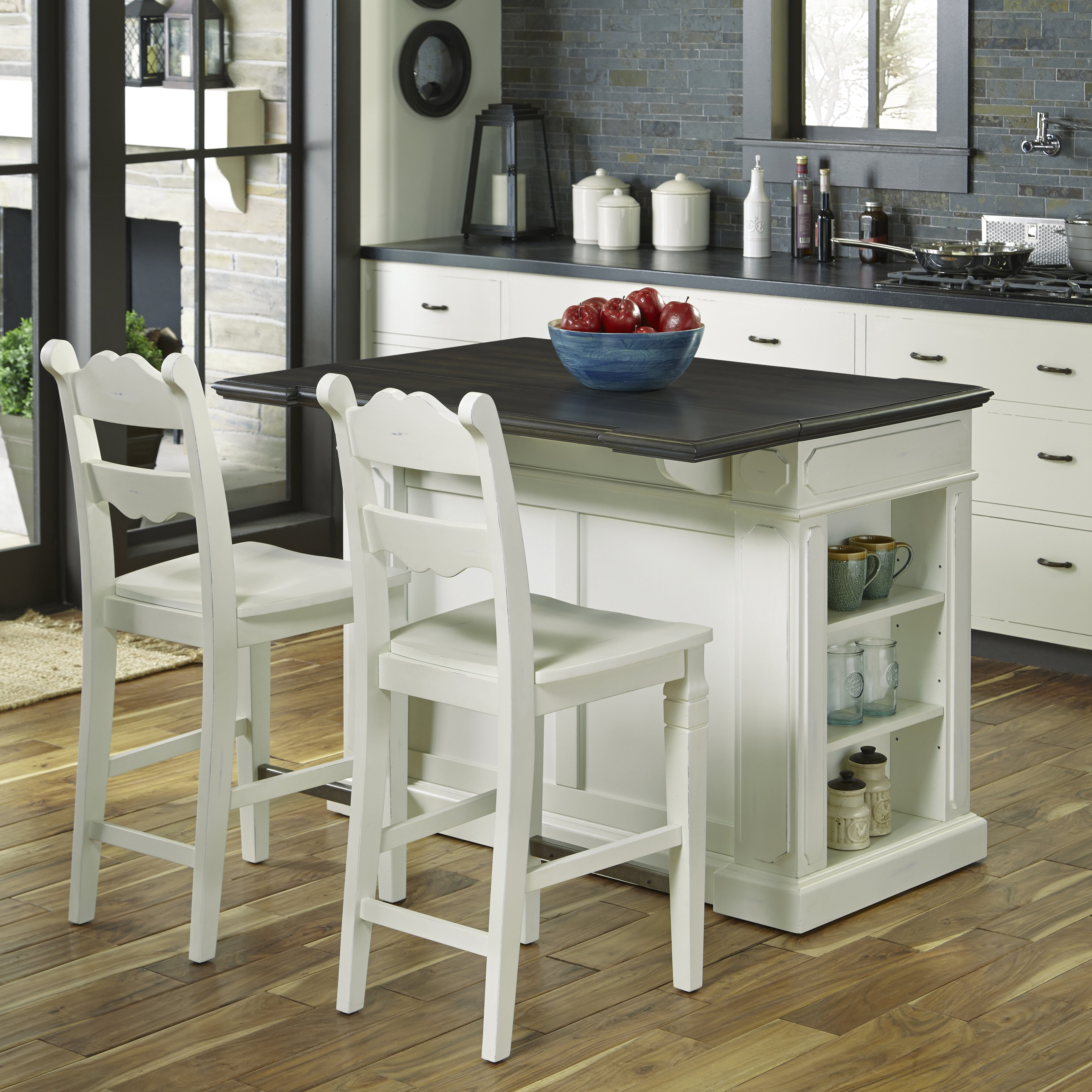 home styles fiesta kitchen island set. Black Bedroom Furniture Sets. Home Design Ideas