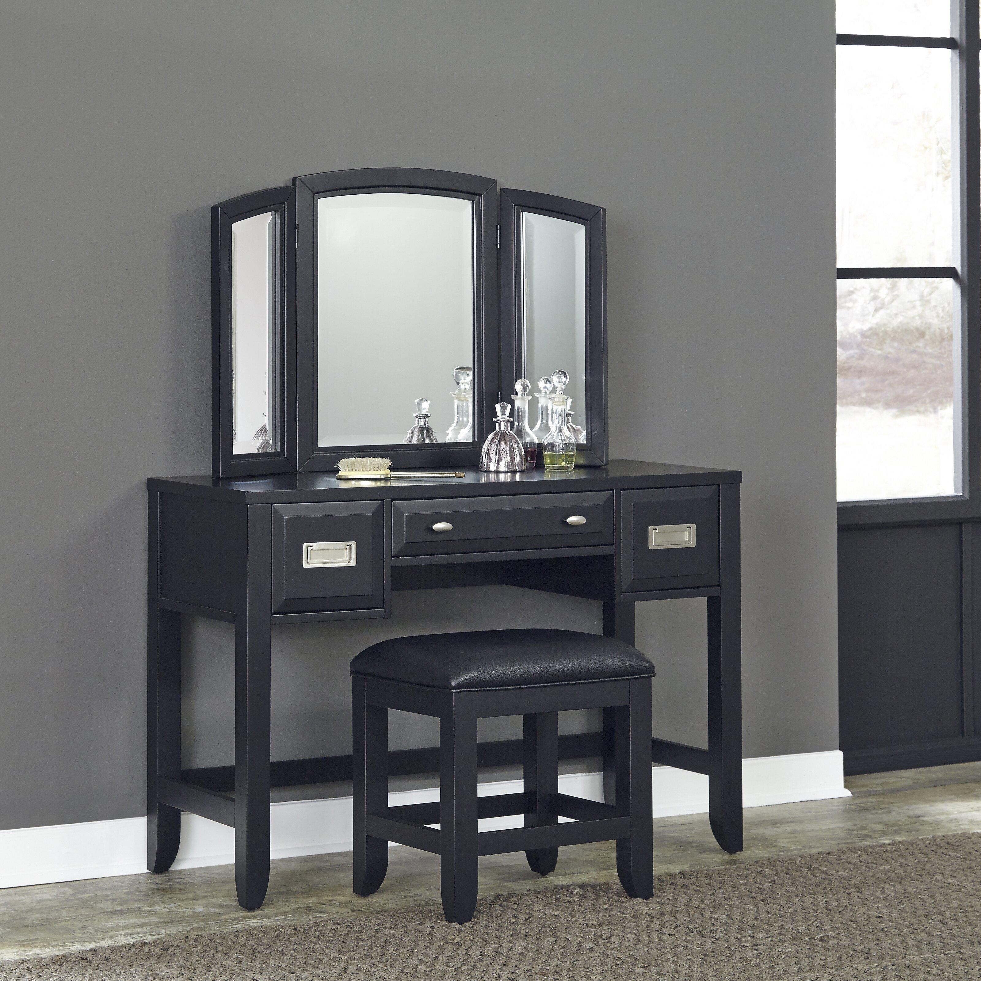 Home styles prescott vanity with mirror wayfair for Homestyles com