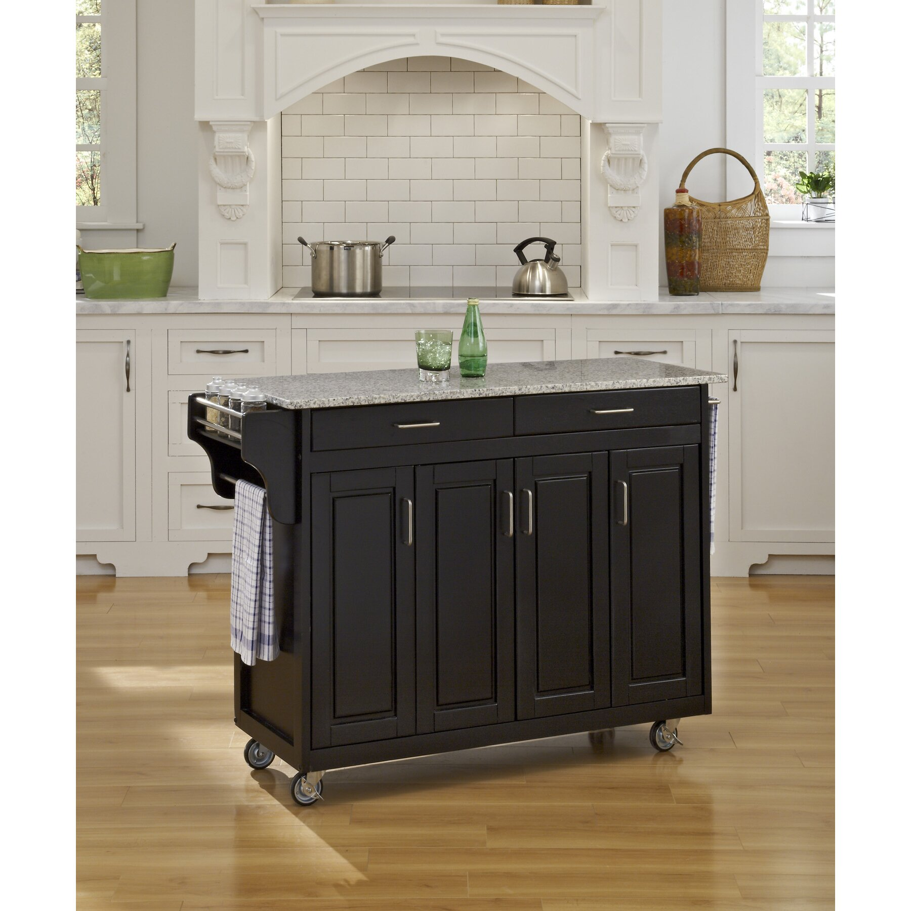Portable Kitchen Island With Granite Top Home Styles Create A Cart Kitchen Island With Granite Top Best