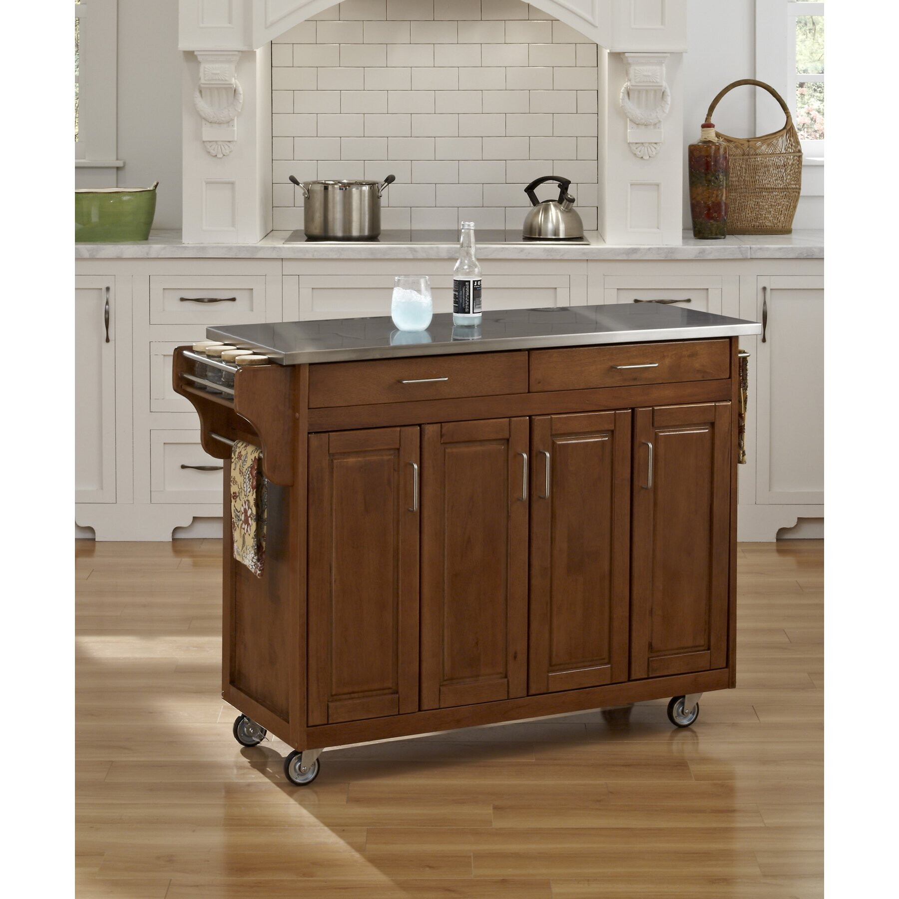 Creating A Kitchen Island: Home Styles Create-a-Cart Kitchen Island With Stainless