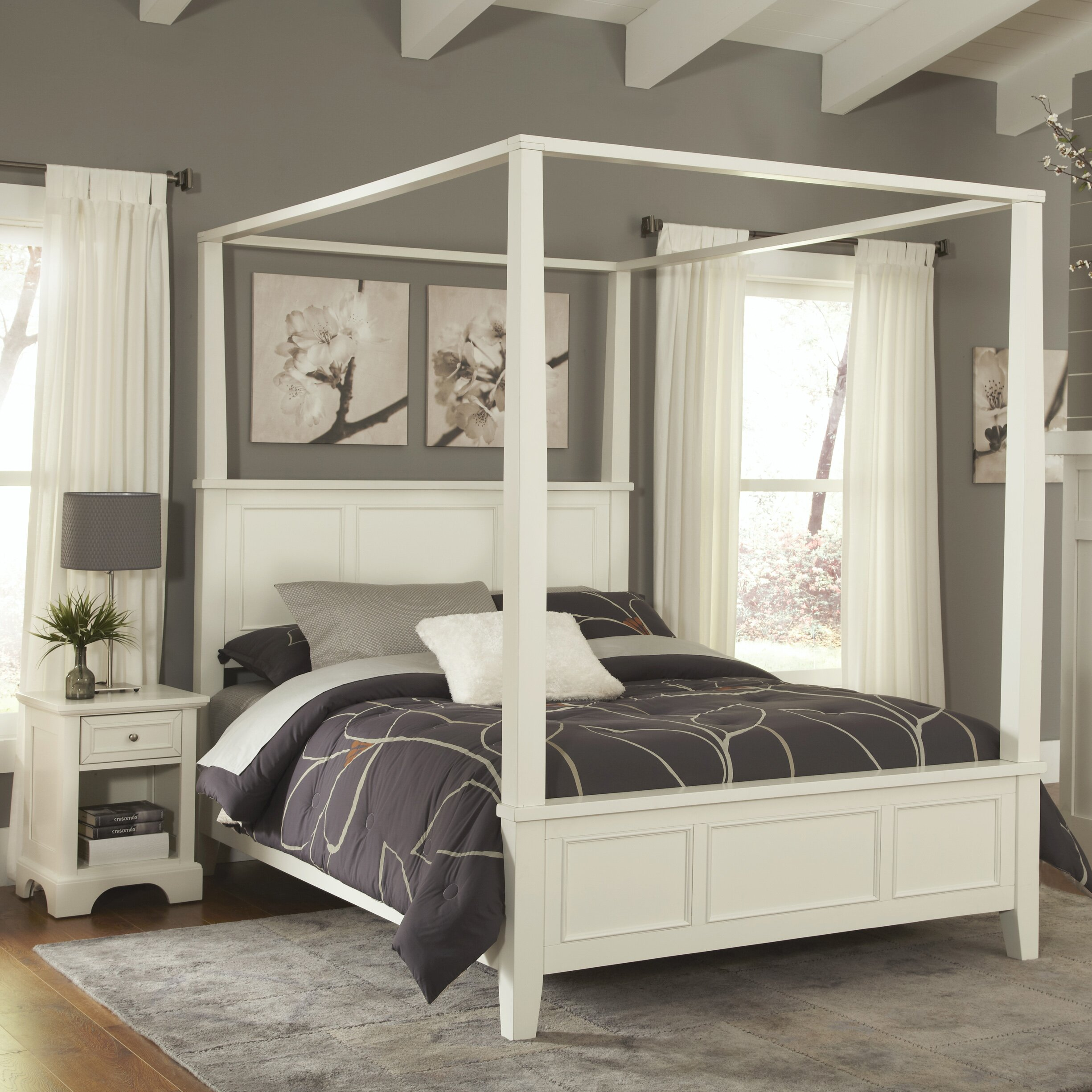 Home Styles Naples Canopy 2 Piece Bedroom Set & Reviews