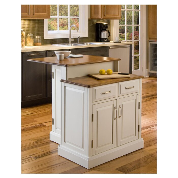 home styles woodbridge kitchen island with wooden top reviews