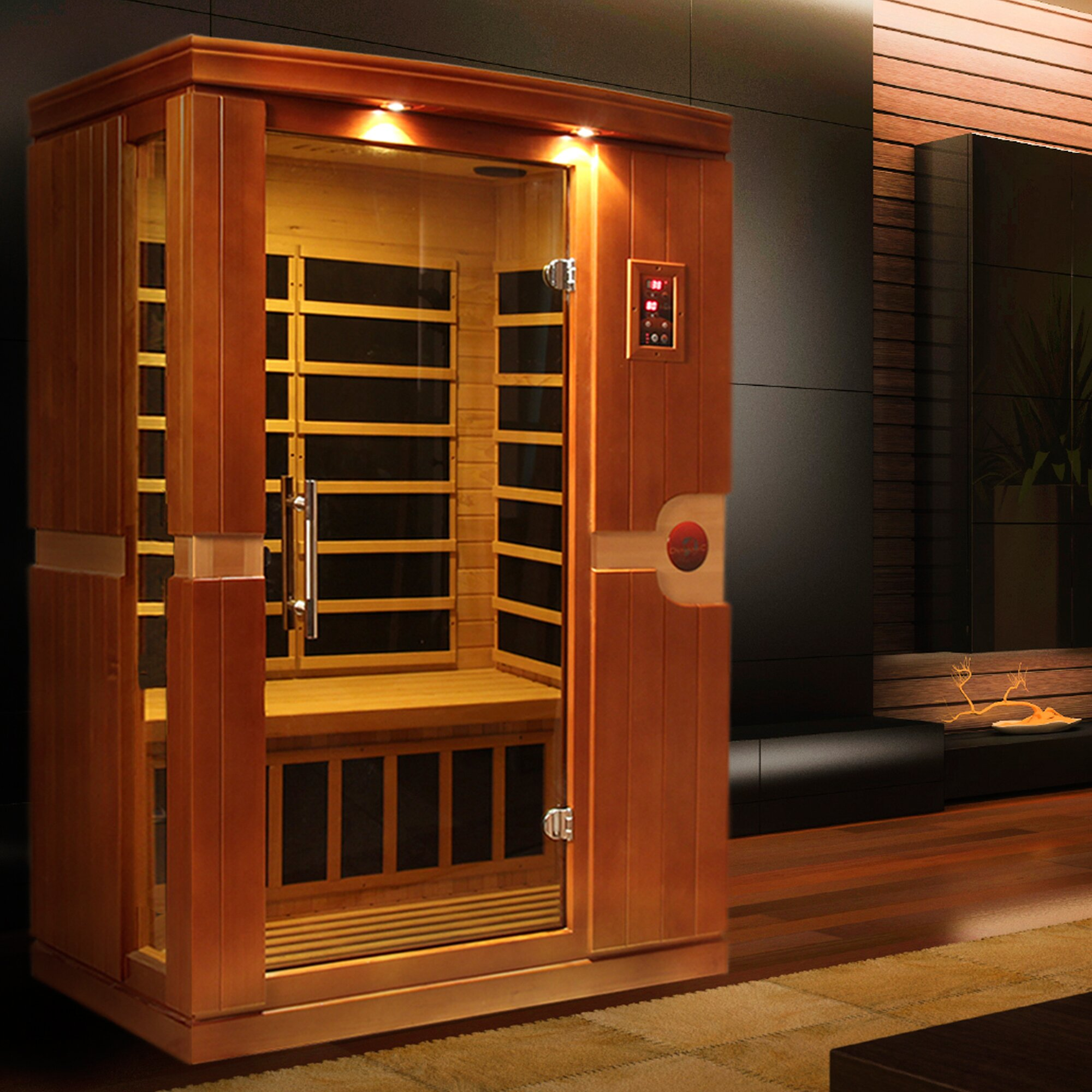 dynamic infrared venice 2 person far infrared sauna reviews wayfair. Black Bedroom Furniture Sets. Home Design Ideas